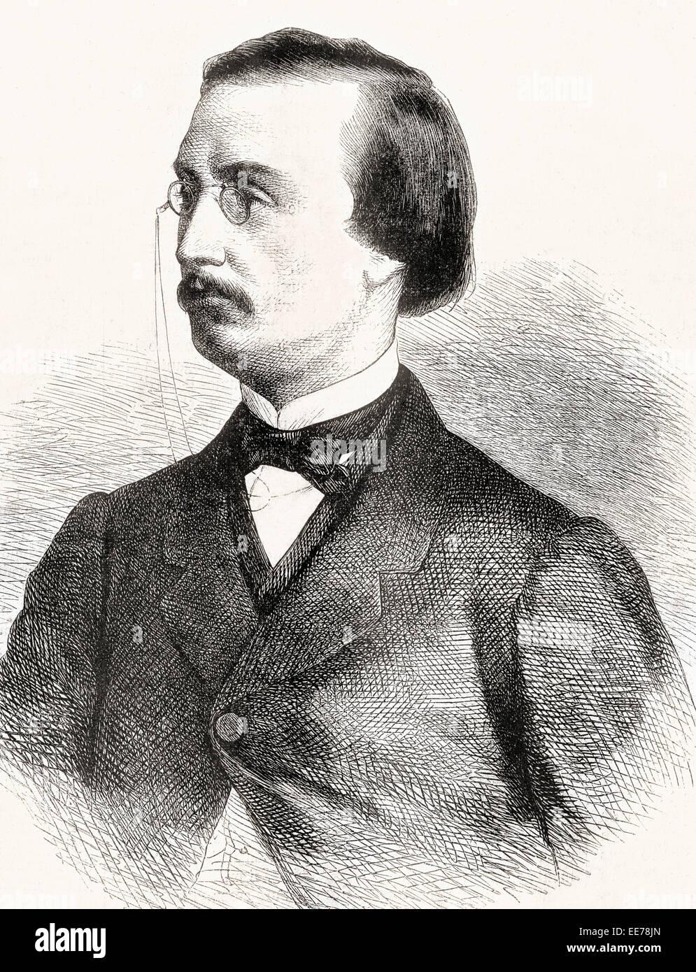 Jules Bara, 1835 – 1900.   Belgian statesman and liberal politician. - Stock Image