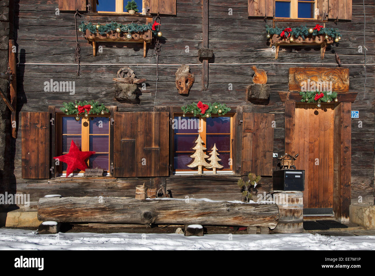 Wooden Christmas House Decorations