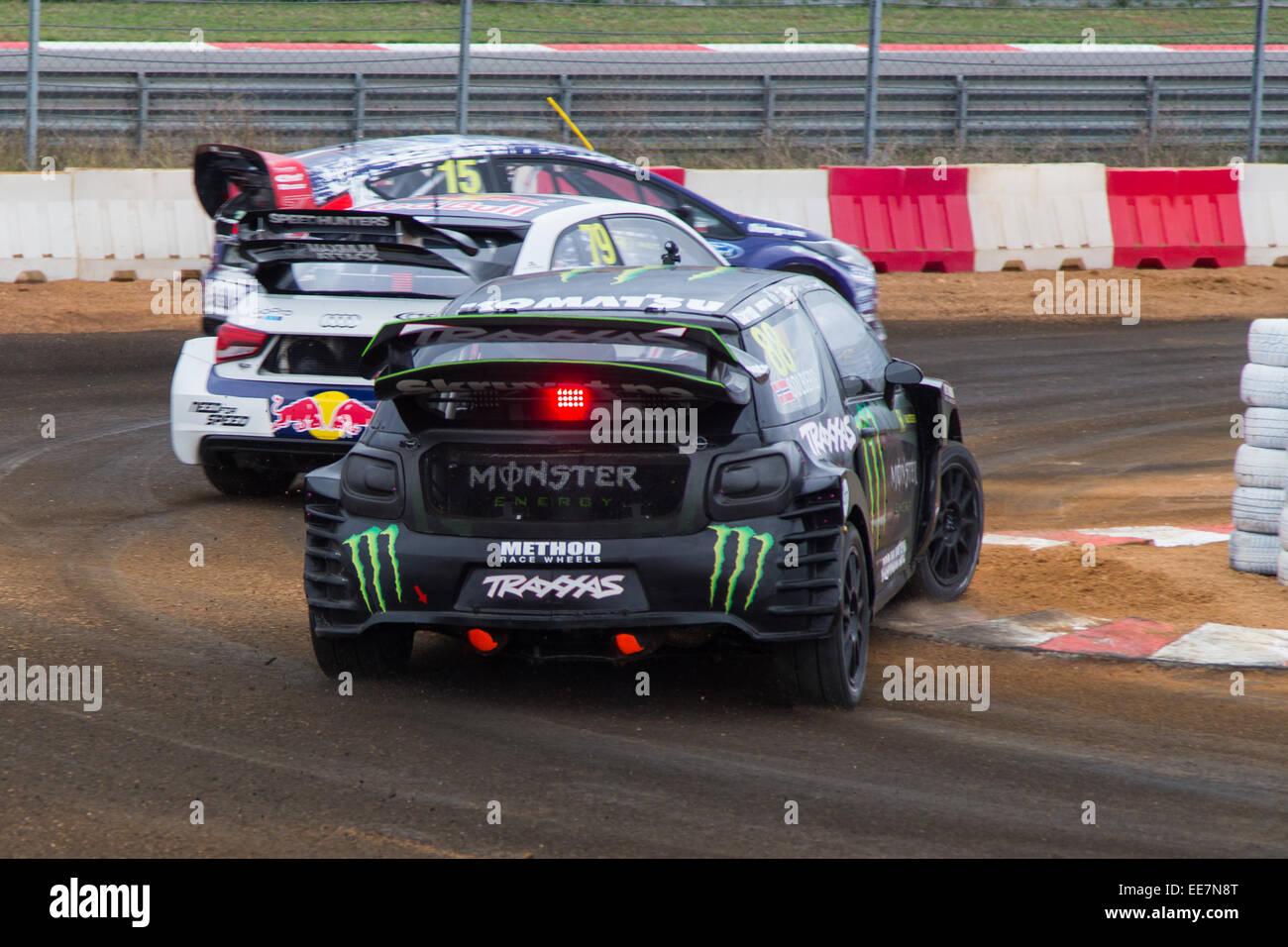 ISTANBUL, TURKEY - OCTOBER 11, 2014: Rallycross cars compite in FIA ...