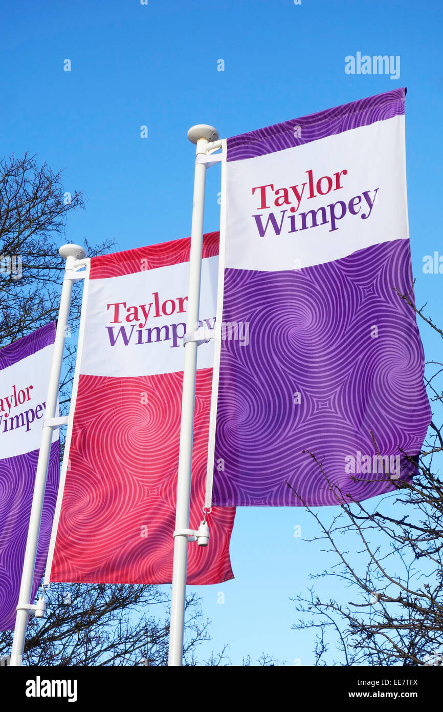 Taylor Wimpey Building Company Flag, UK - Stock Image