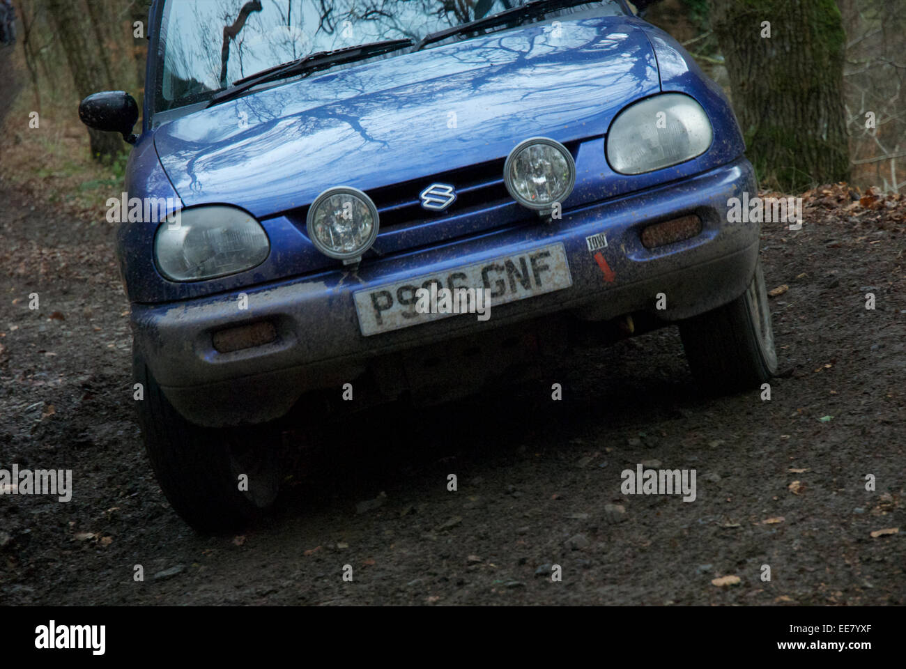 Car competitors on the Fingle Section of the 2013 Exeter Trial Stock Photo