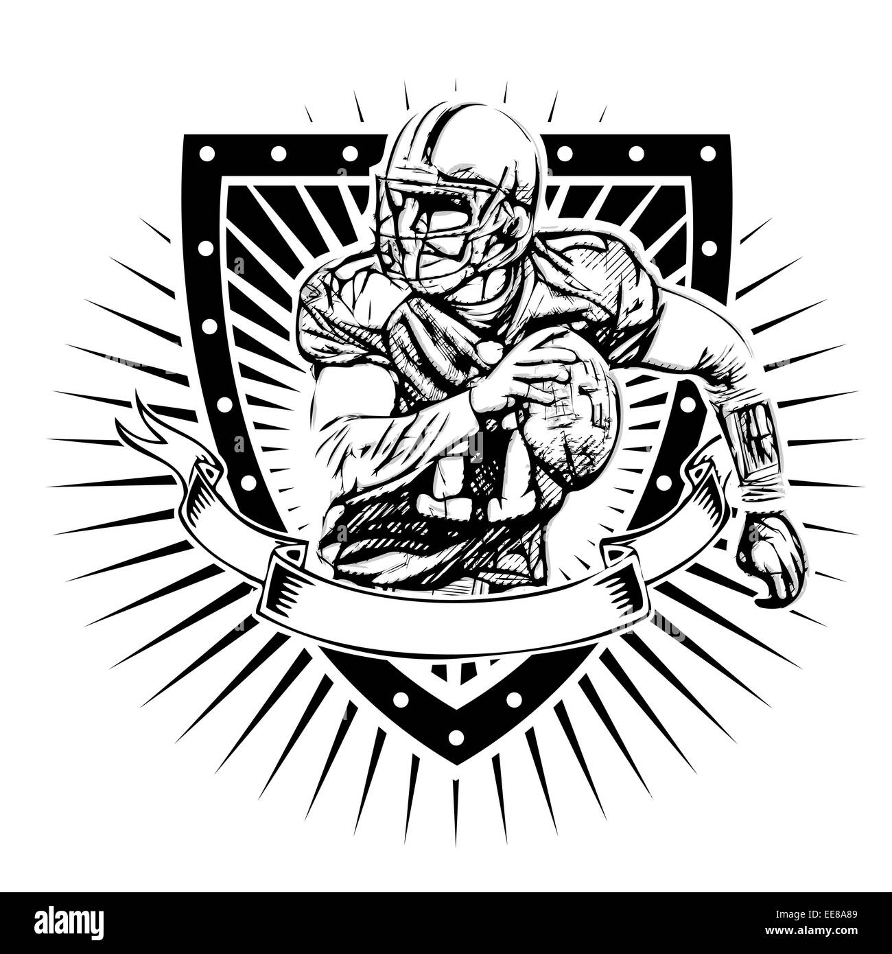 Football Logo Black And White Stock Photos Images Alamy