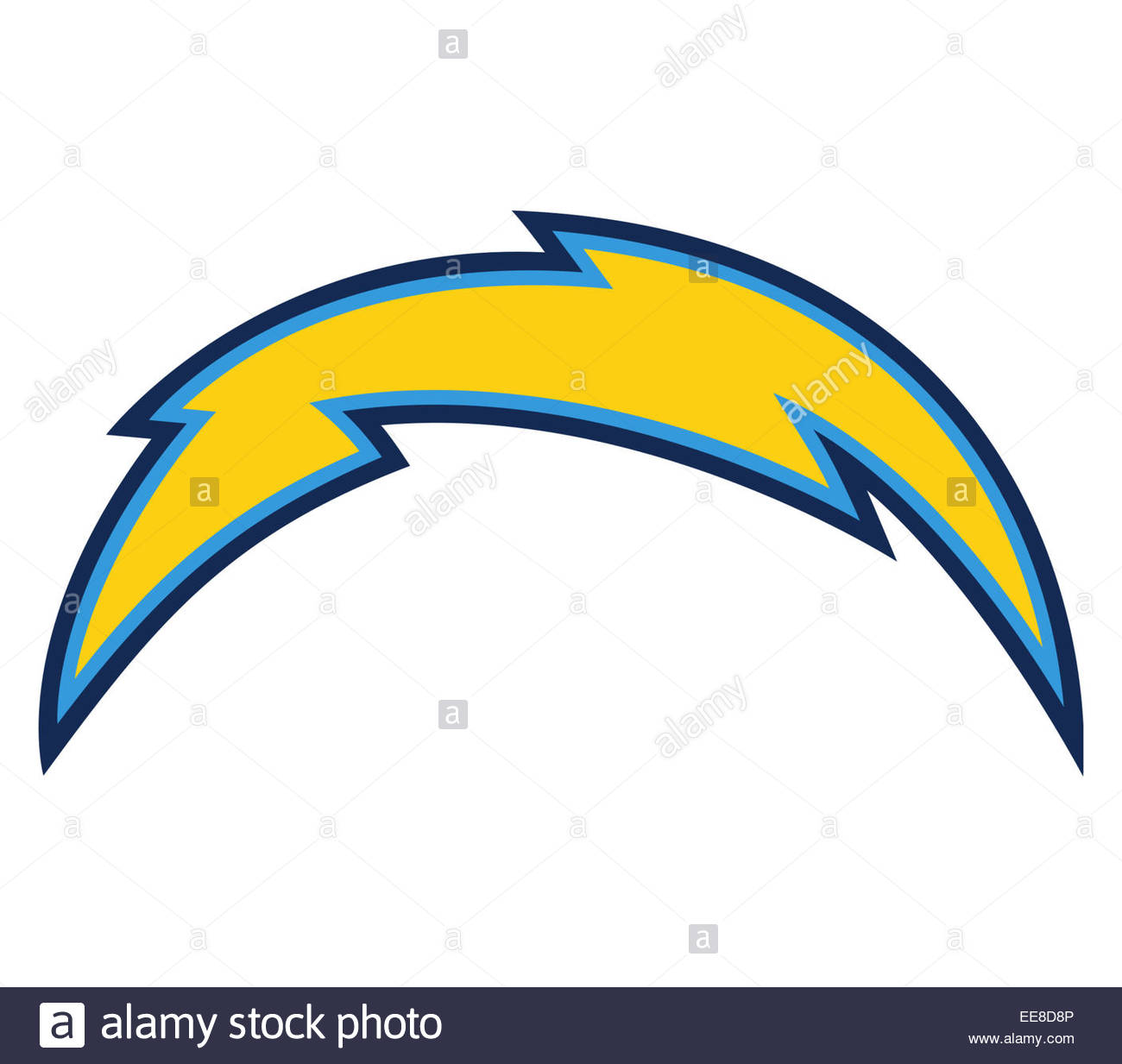 San Diego Chargers Emblem: San Diego Chargers Icon Symbol Stock Photo: 77632710