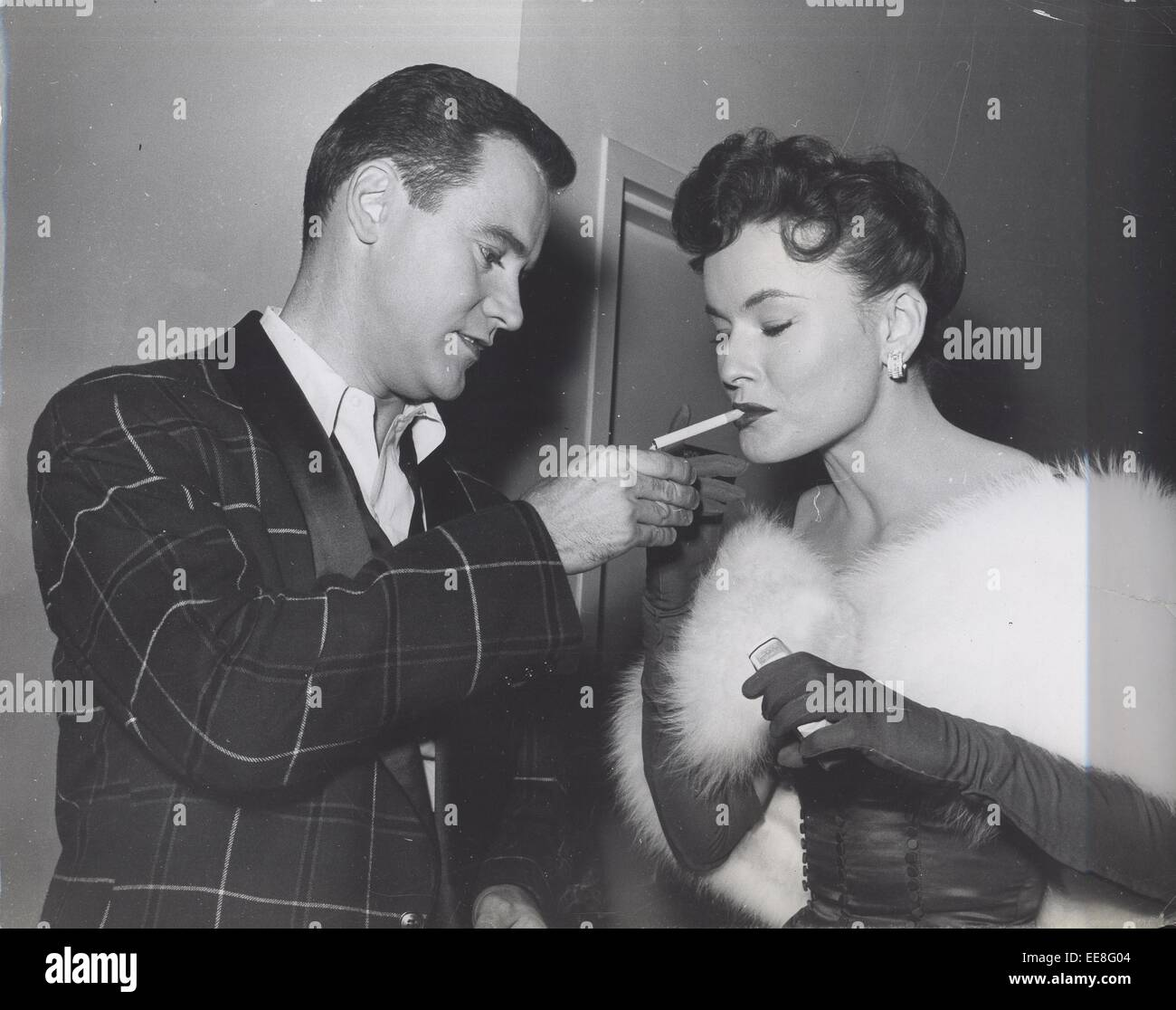 JACK LEMMON with Lucy Marlowe at backstage during the Red Skelton ...