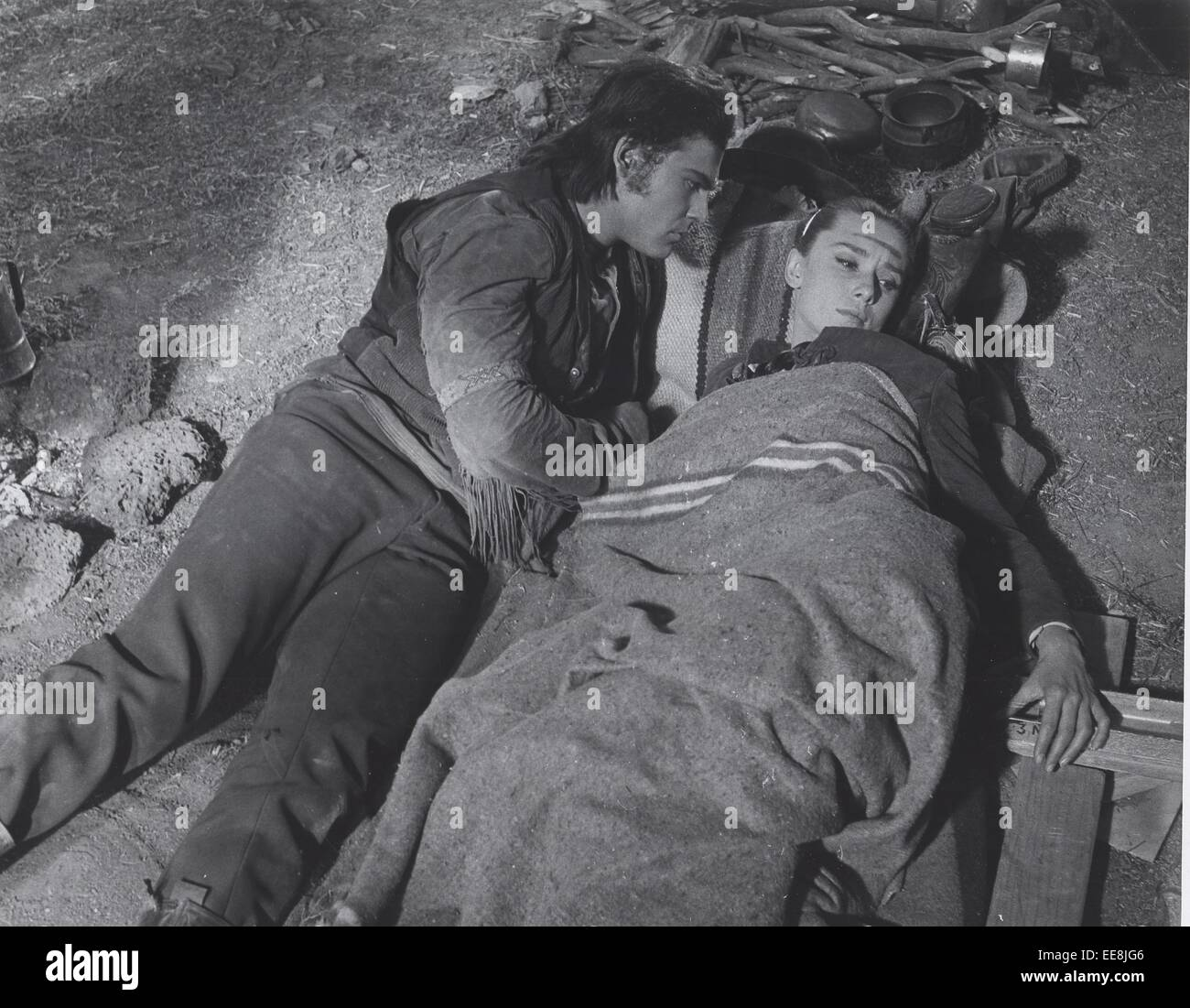 JOHN SAXON 1959.The Unforgiven.Supplied by Photos, inc. © Supplied By Globe Photos, Inc/Globe Photos/ZUMA Wire/Alamy - Stock Image