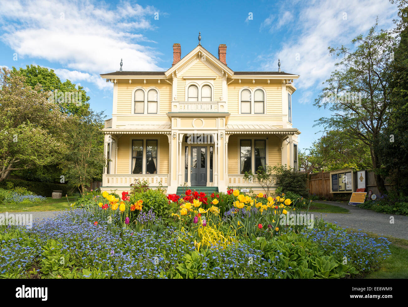 Carr House, birth place of artist Emily Carr, Victoria, British Columbia, Canada - Stock Image