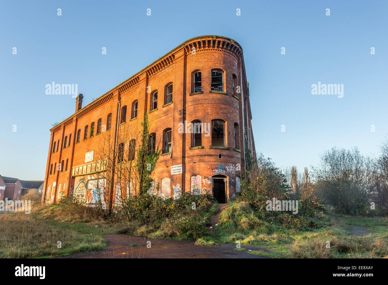 Great North Eastern Railway Warehouse (GNER) Derby, Abandoned - Stock Image