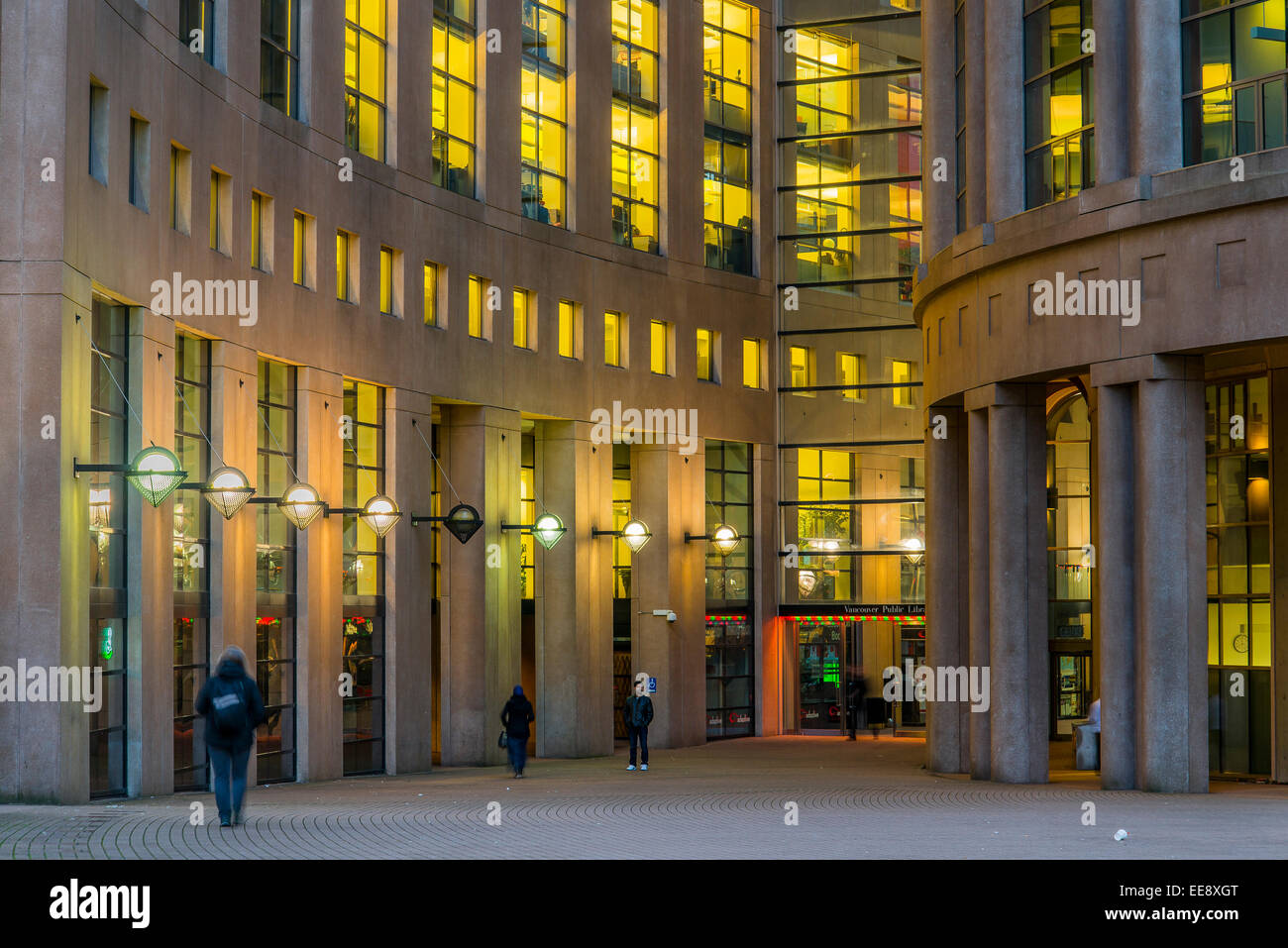 Georgia Street entrance, Library Square, Vancouver, British Columbia, Canada - Stock Image