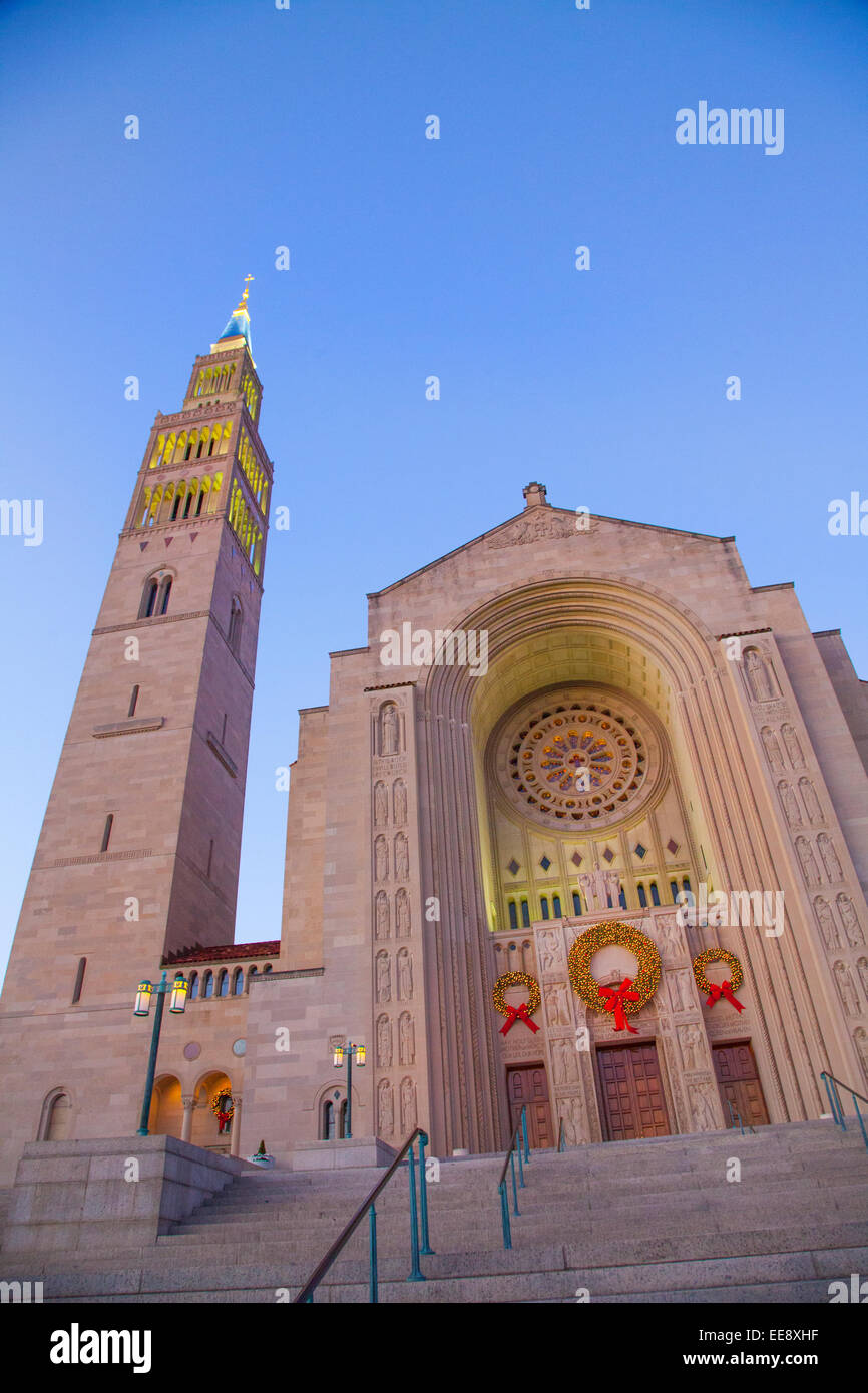 The Basilica of the National Shrine of the Immaculate Conception in Washington DC, United States Stock Photo