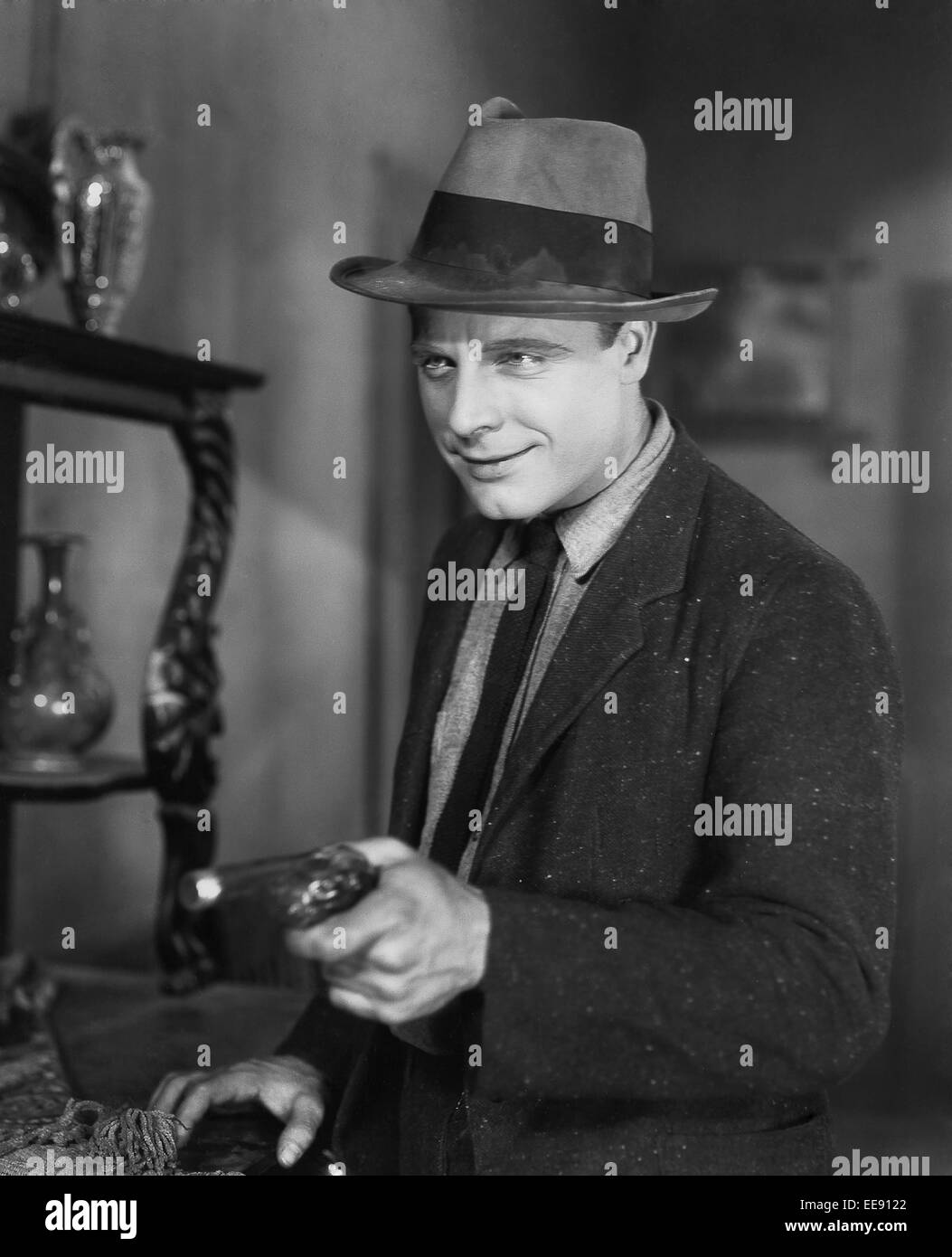 James Murray, on-set of the film, 'The Crowd', 1928 - Stock Image