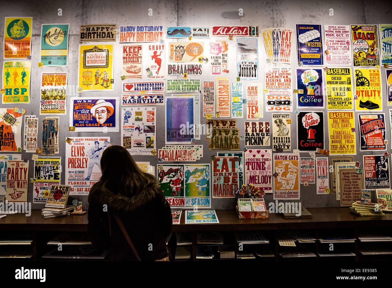 Posters displayed on the walls of the Hatch Print Show
