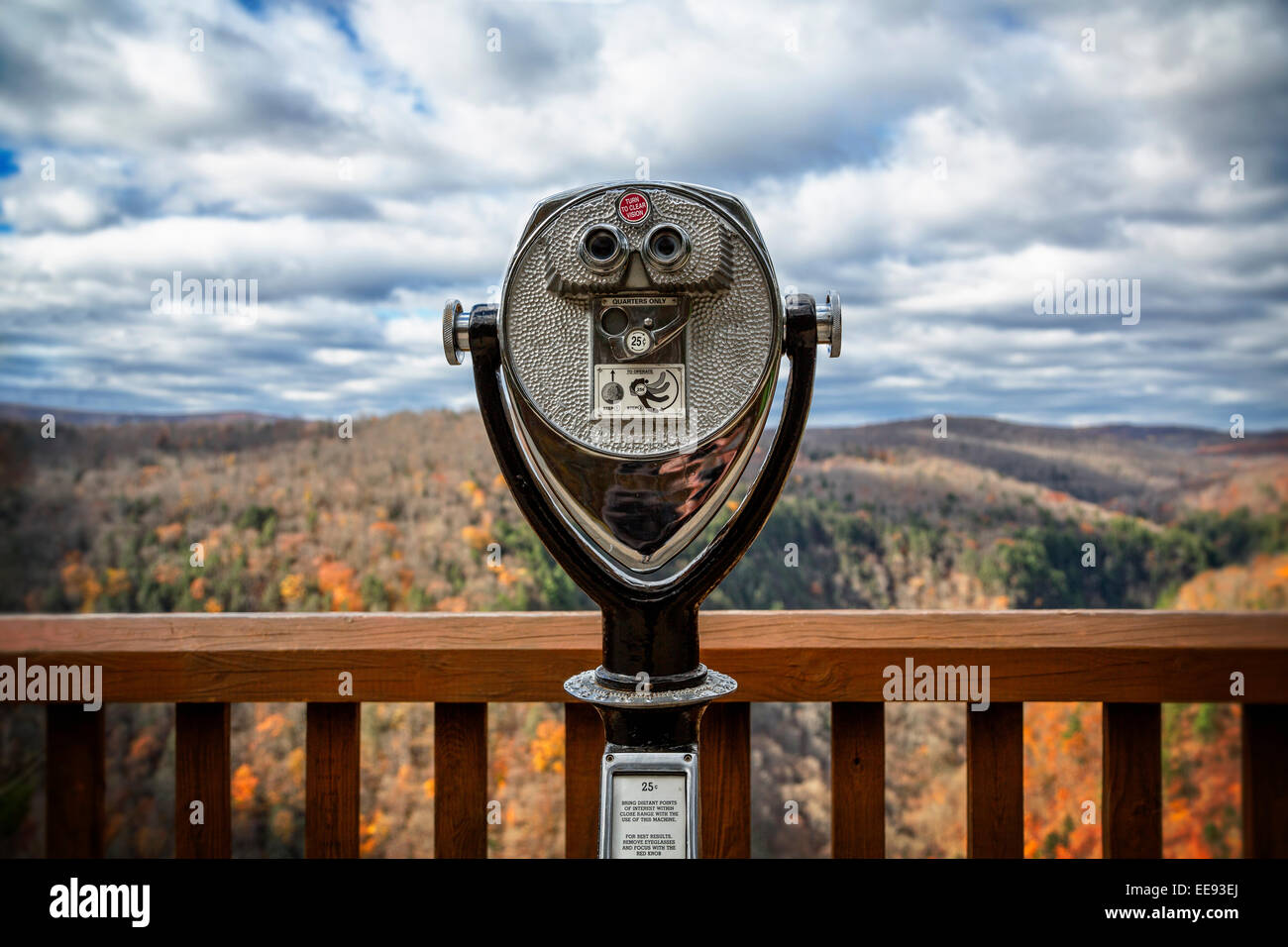 Overlook viewer in the fall at Pennsylvania Grand Canyon - Stock Image