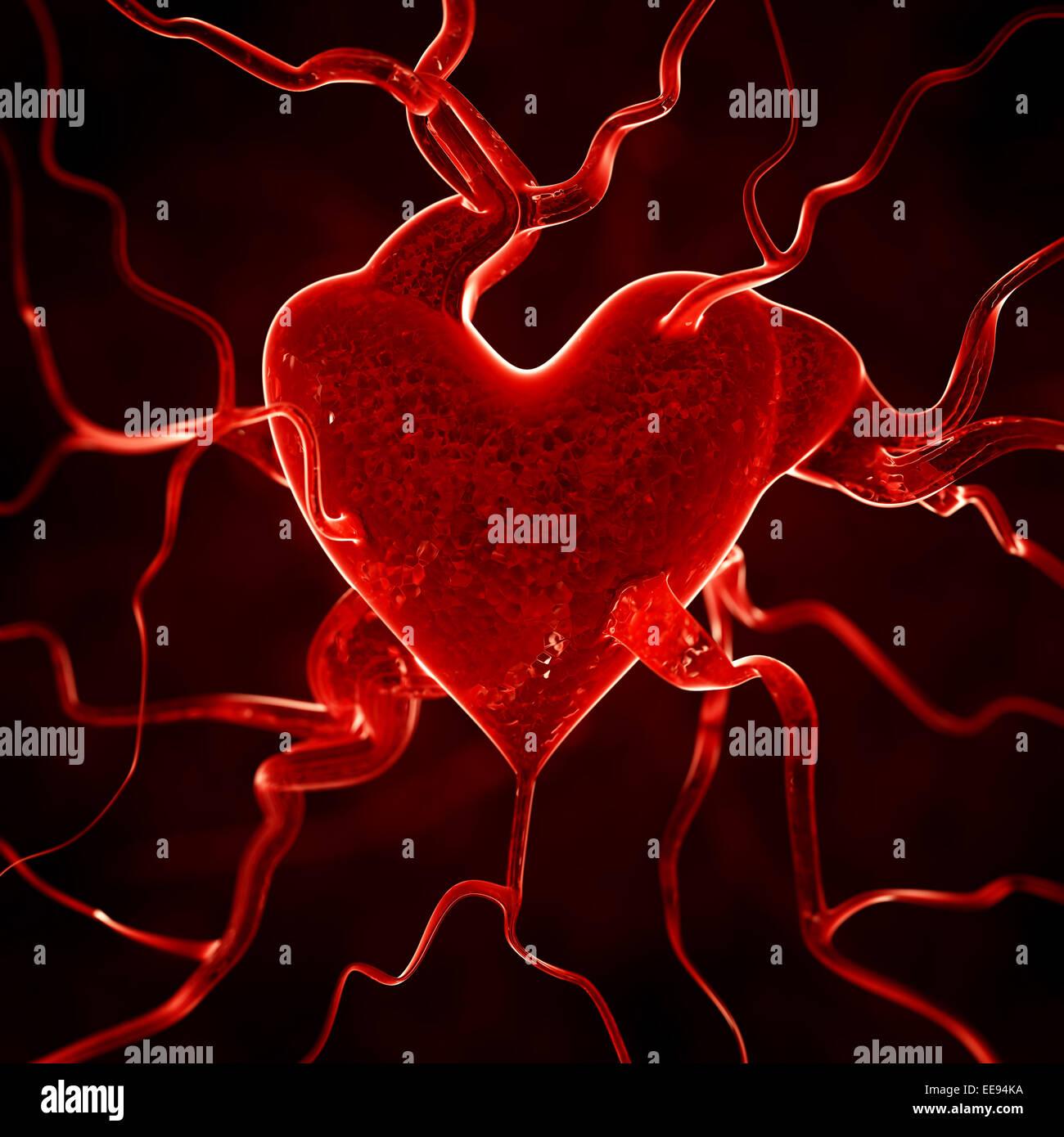 Heart background - Stock Image