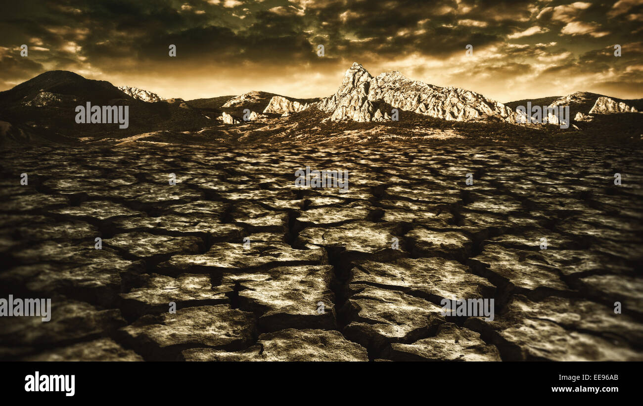 natural disaster, abstract environmental backgrounds - Stock Image