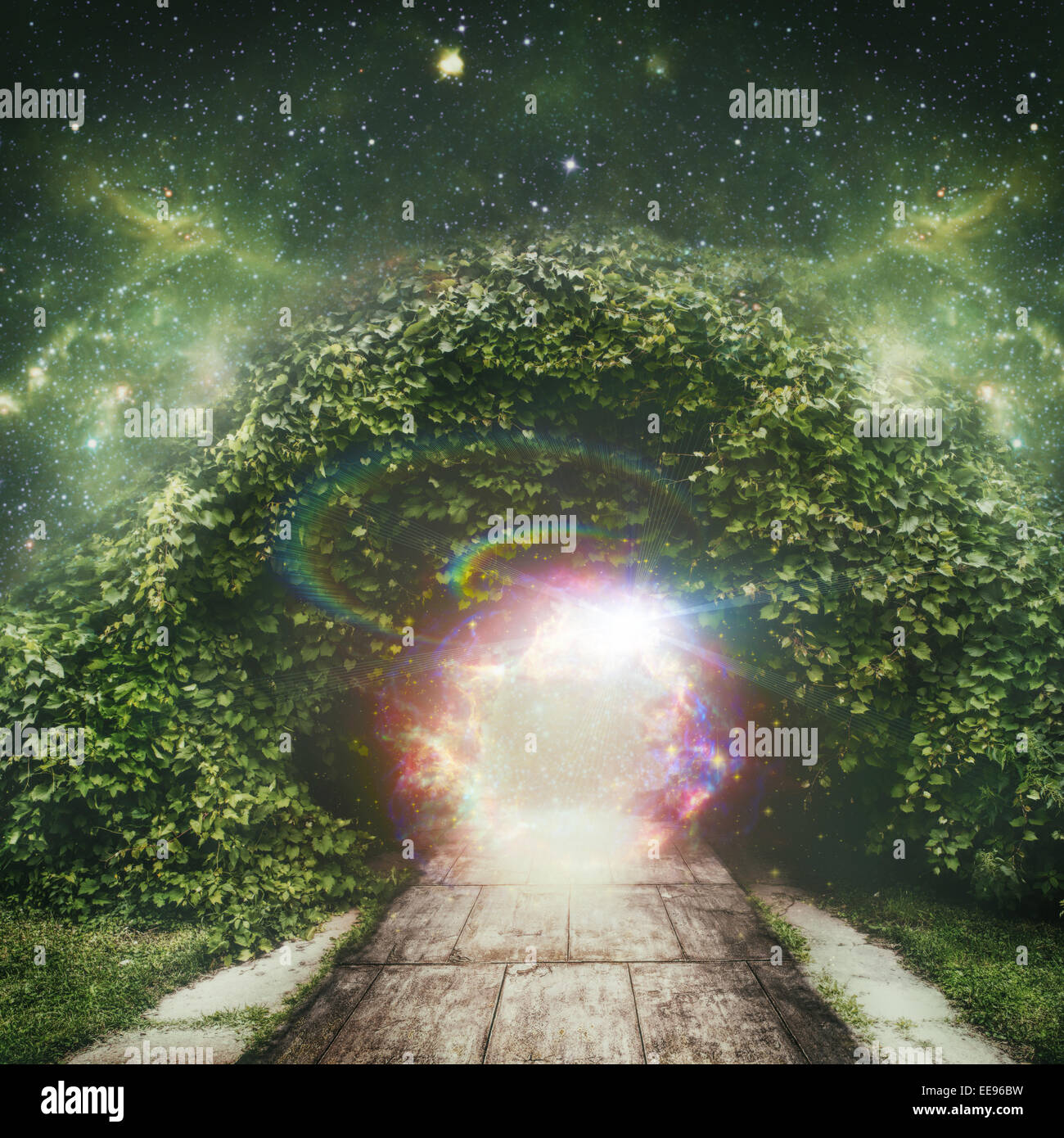 portal to another universe, abstract spiritual backgrounds - Stock Image