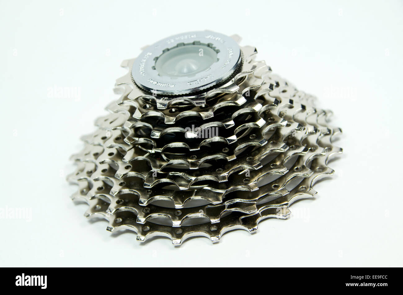 Shimano 9 speed bicycle cassette - Stock Image