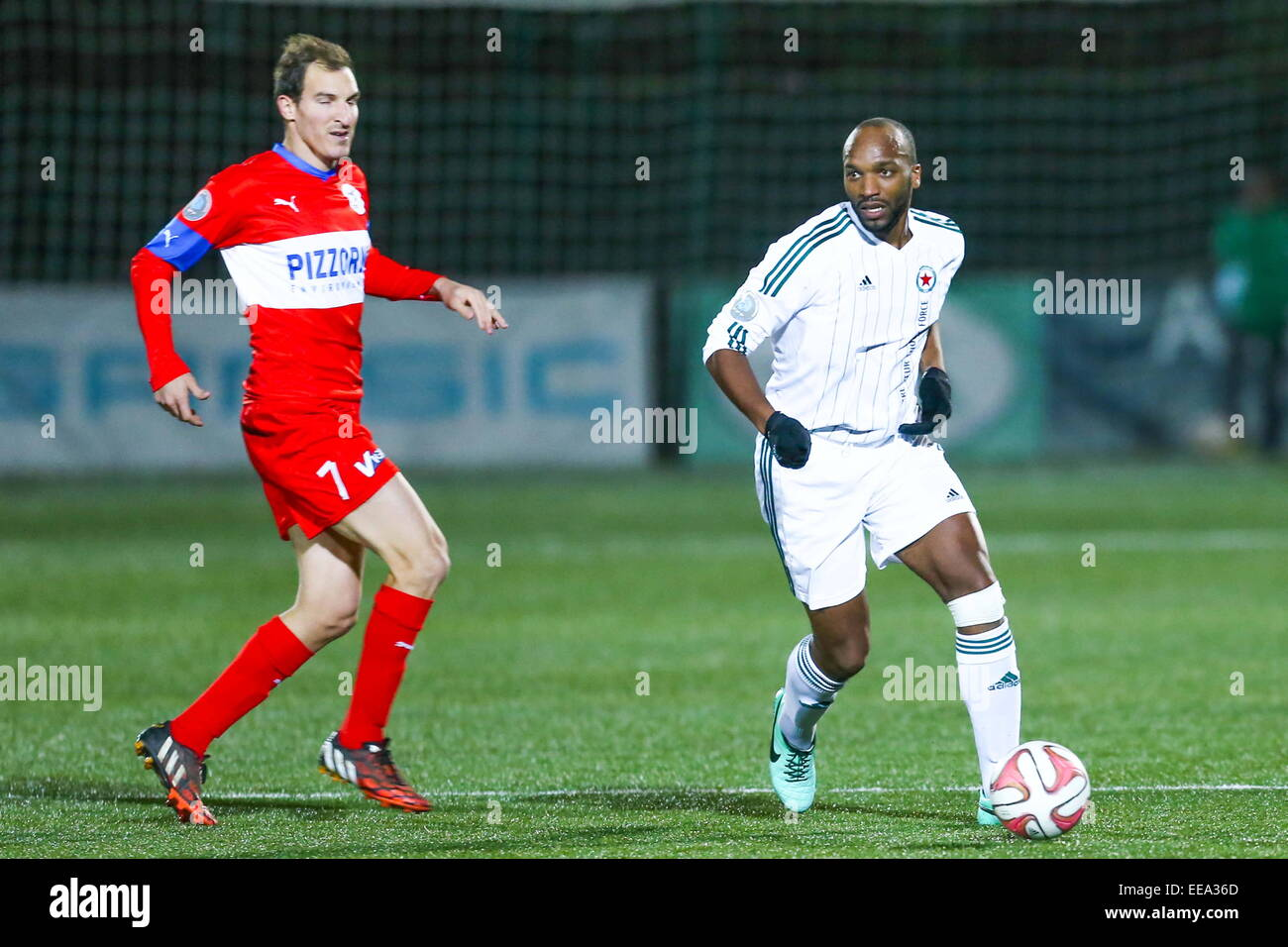 438036673 Danilson DA CRUZ - 09.01.2015 - Red Star Frejus Saint Raphael - 17eme  journee National .Photo   Sebastien Muylaert Icon Sport