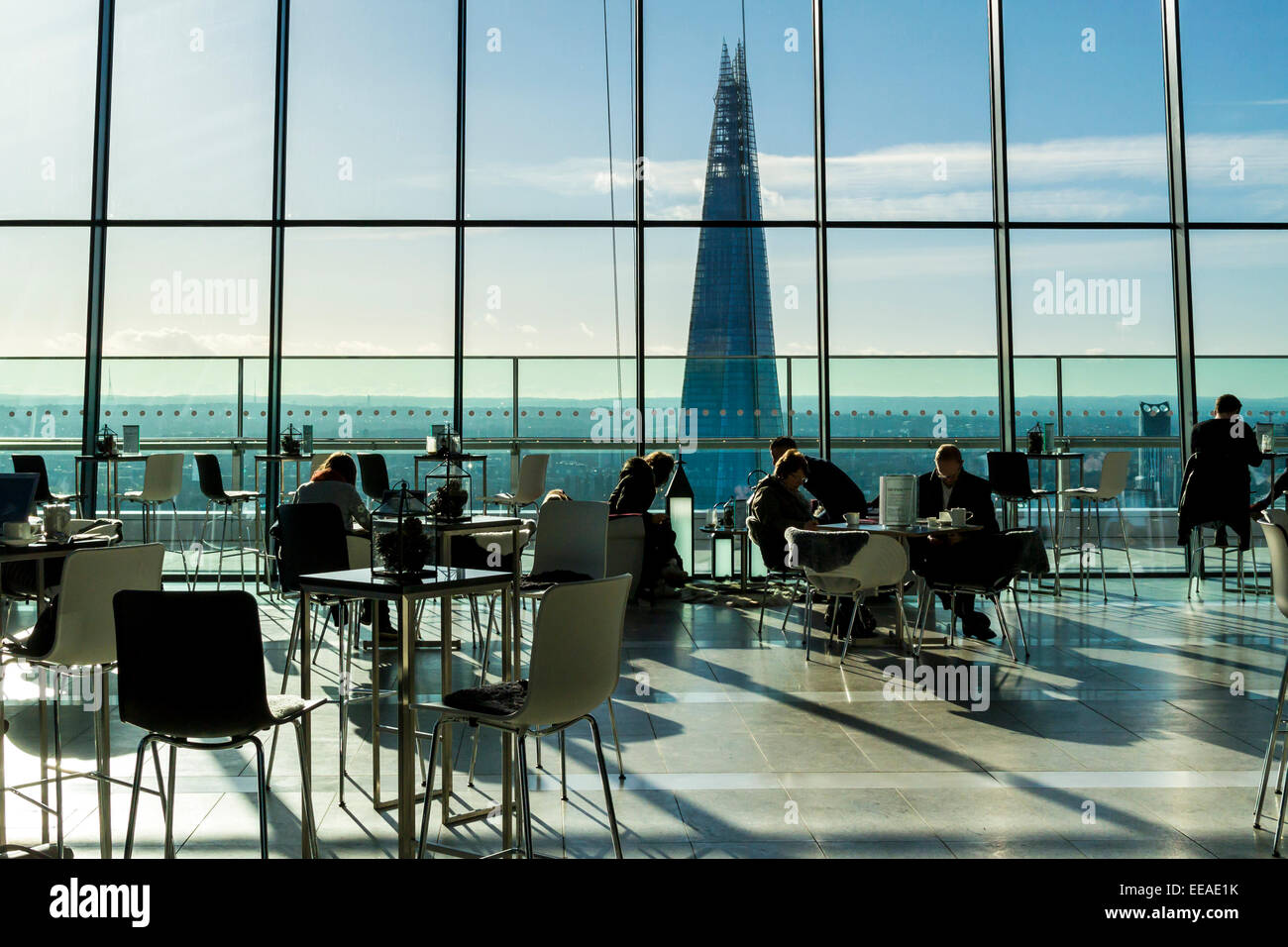 The Sky Garden is a public garden and viewing platform at the top of 20 Fenchurch Street, also known as the Walkie - Stock Image