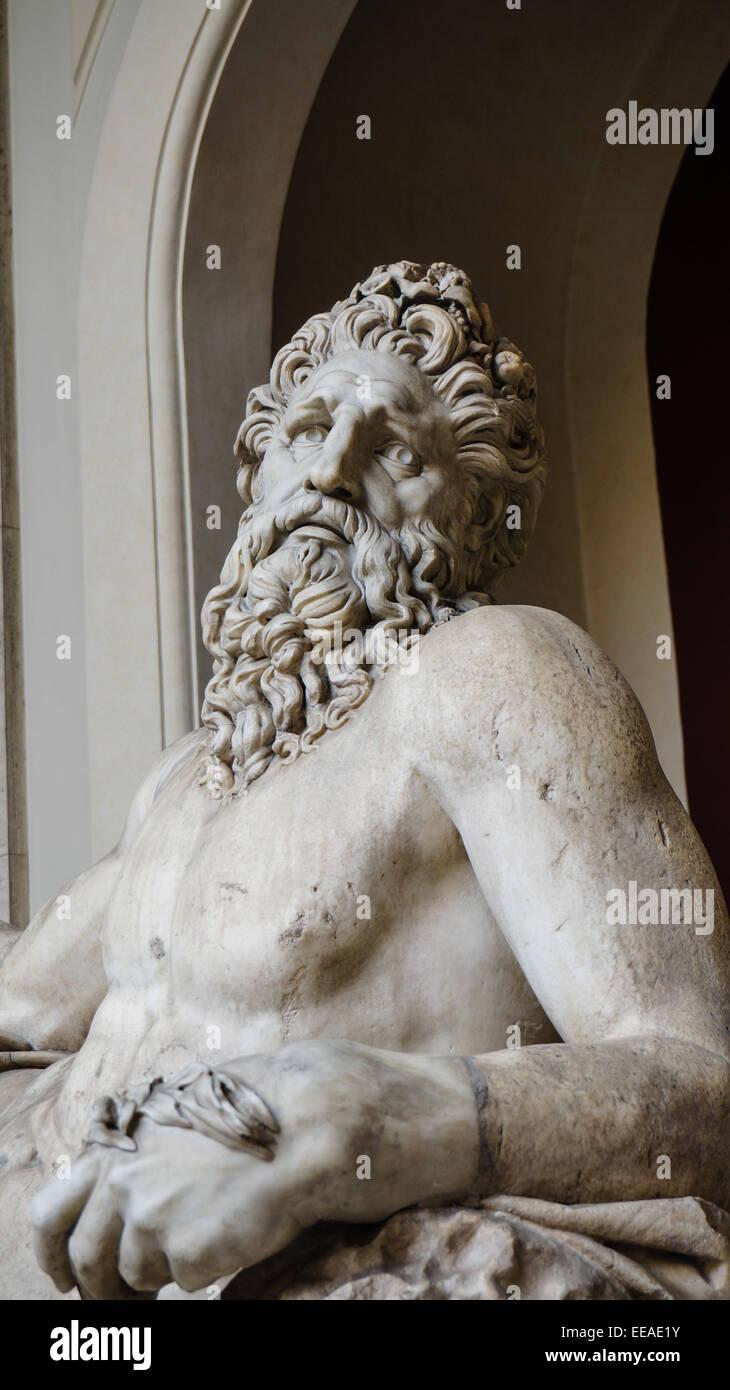 Hellenistic sculptures in Vatican museum, Italy - Stock Image