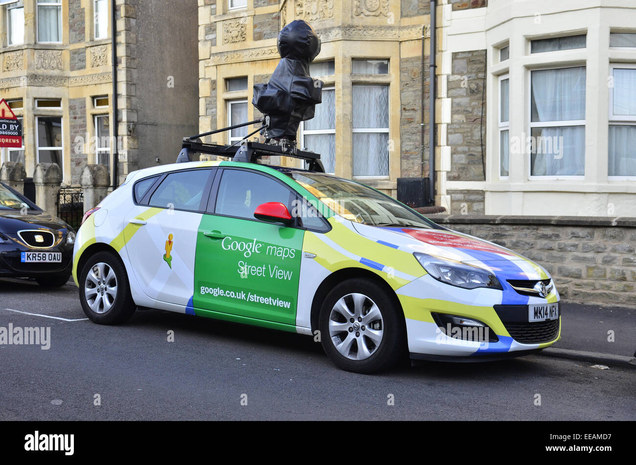 Google street car seen parked up in Bristol. Robert Timoney/AlamyLiveNews. - Stock Image