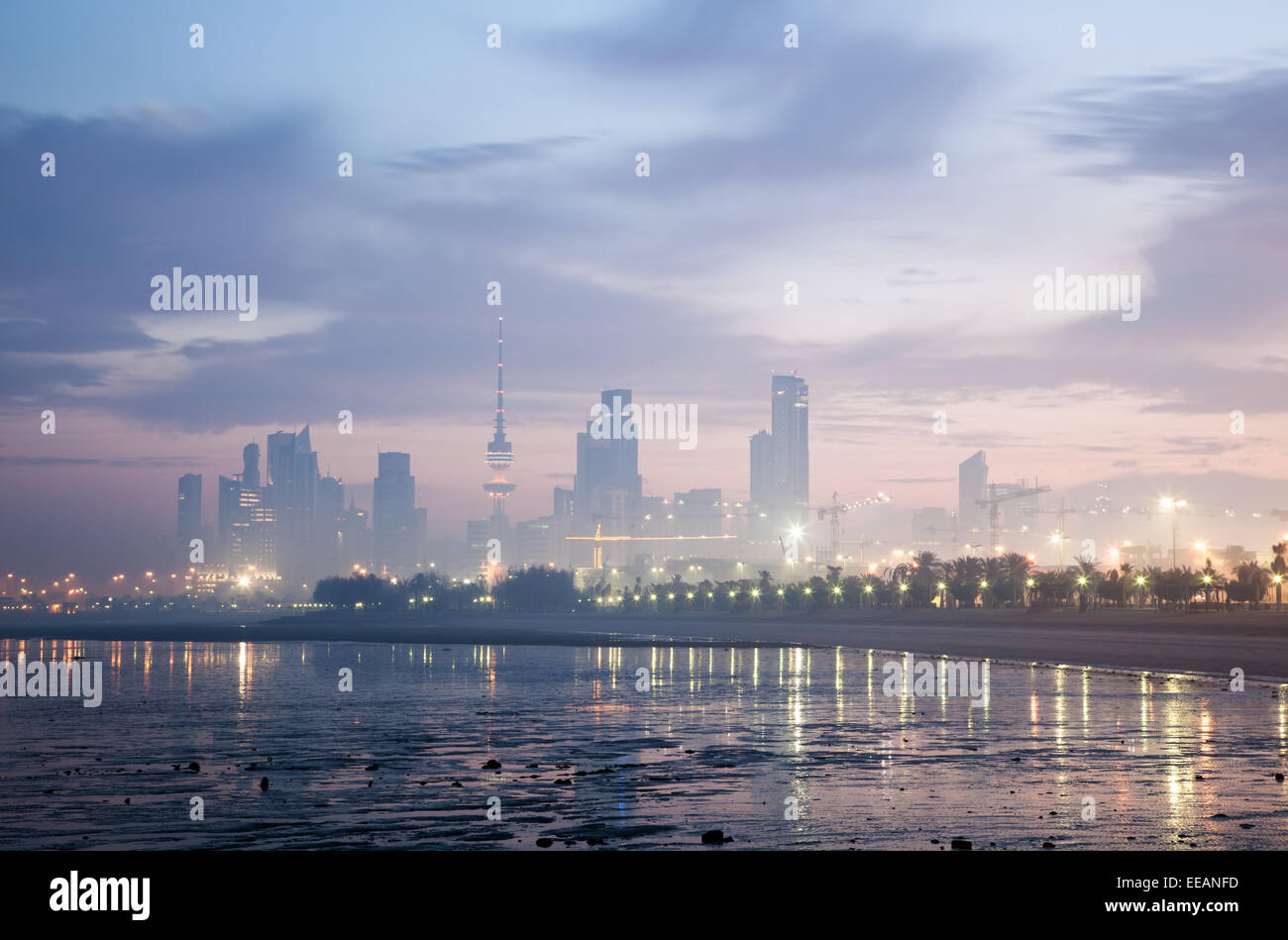 Skyline of Kuwait City - Stock Image