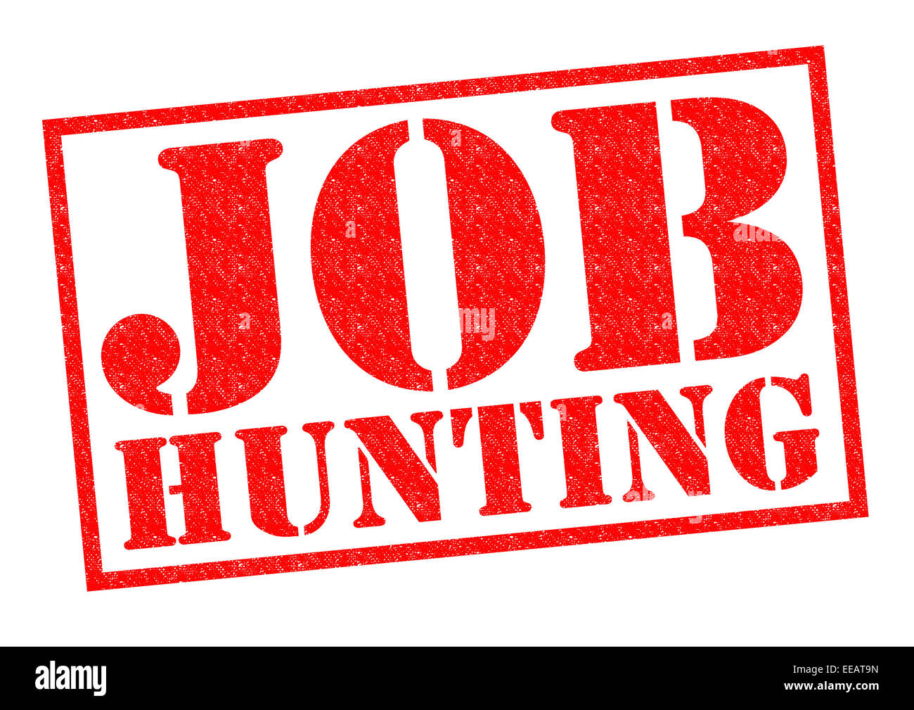 JOB HUNTING red Rubber Stamp over a white background. - Stock Image