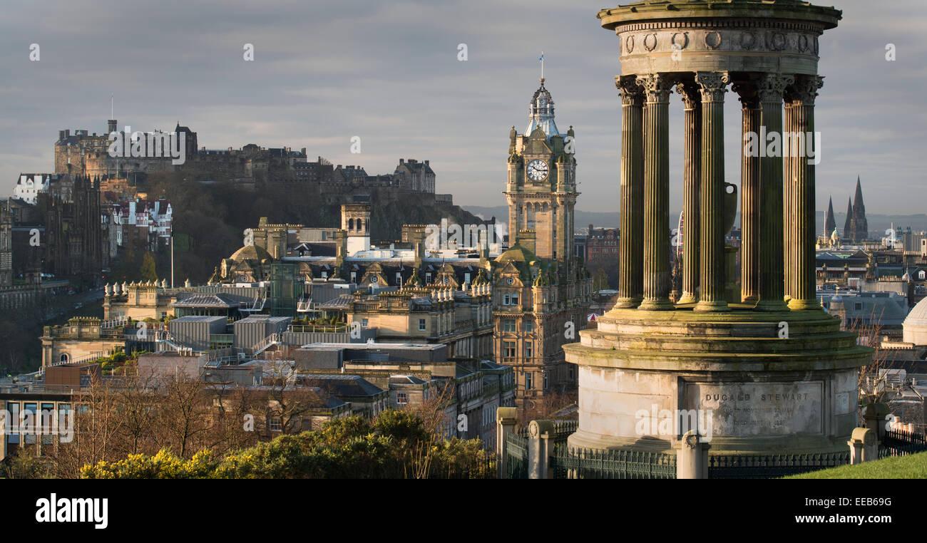 Stewart Monument, Carlton Hill, Edinburgh, Scotland - Stock Image