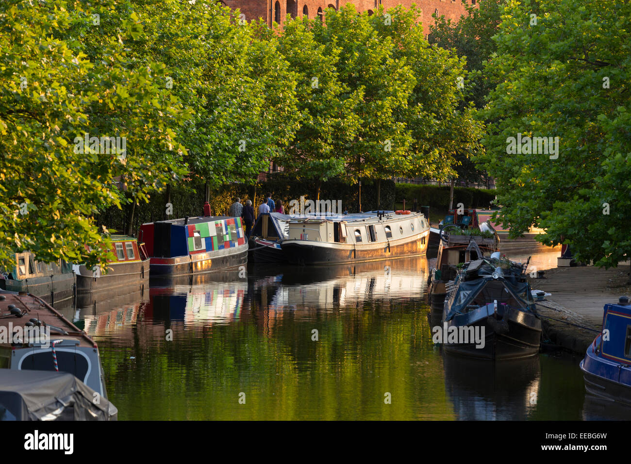 England, Manchester, Bridgewater Canal - Stock Image