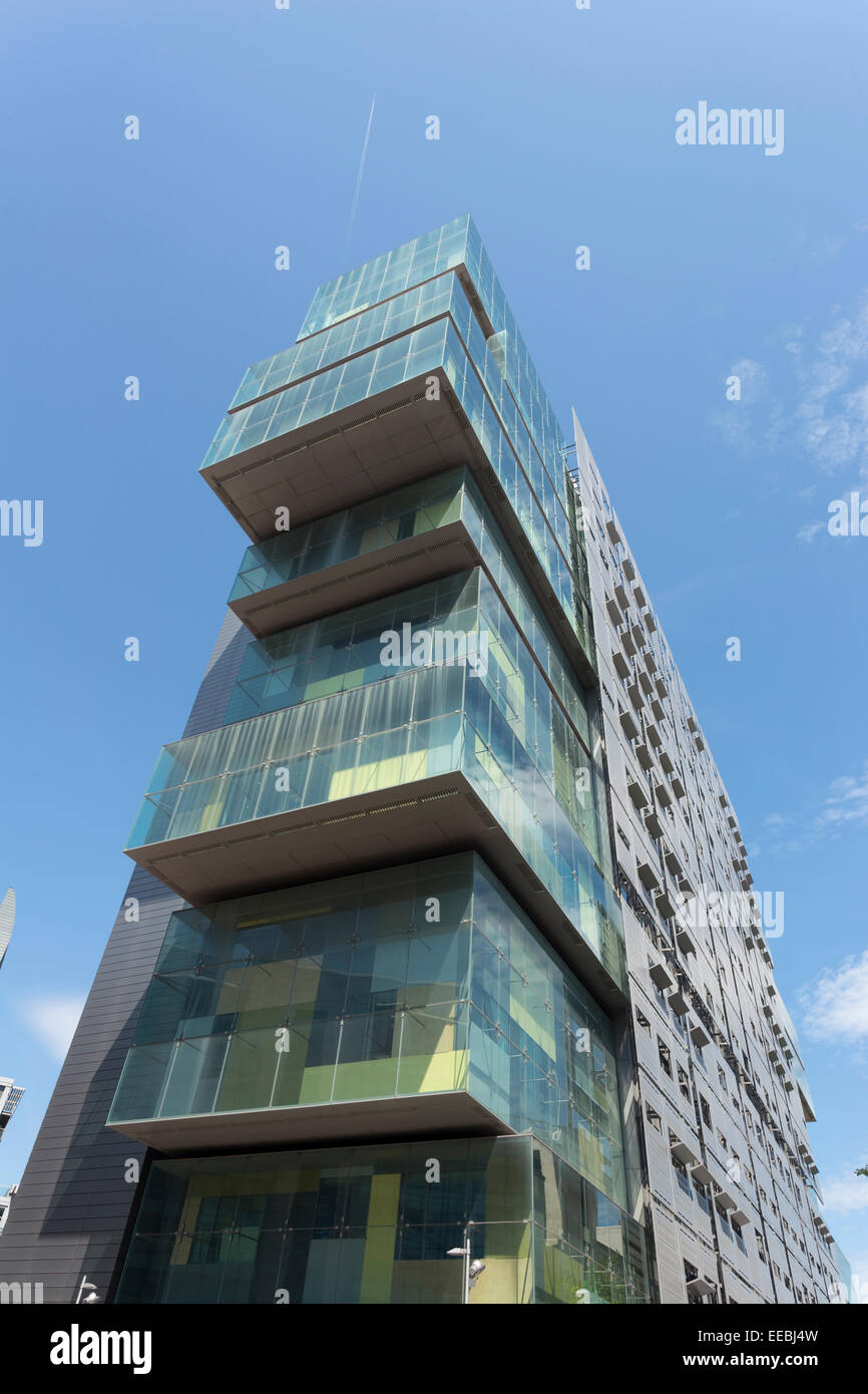 England, Manchester, Modern architecture at Spinningfields financial district - Stock Image