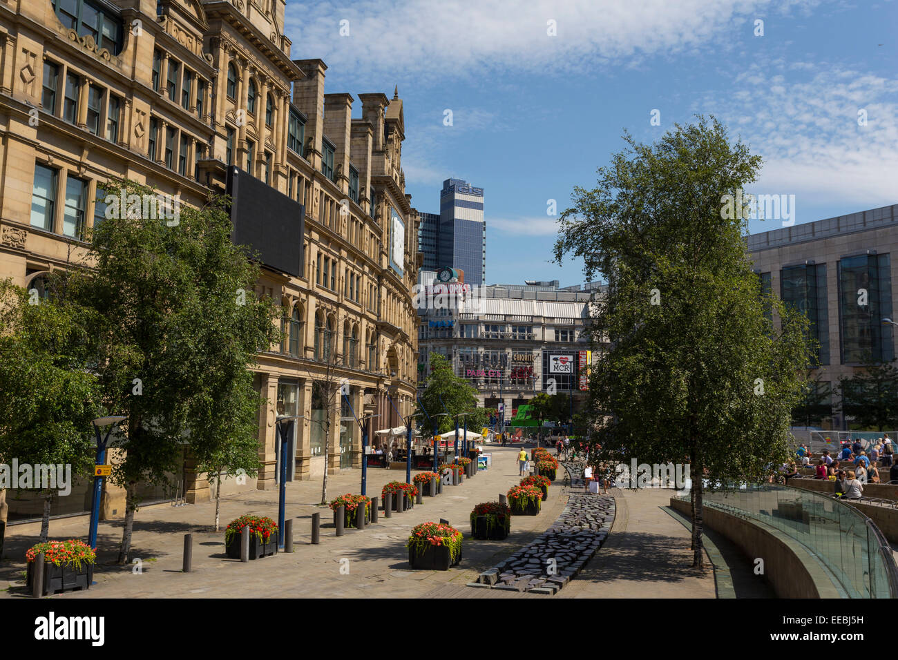 England, Manchester, the Triangle and Printworks area - Stock Image