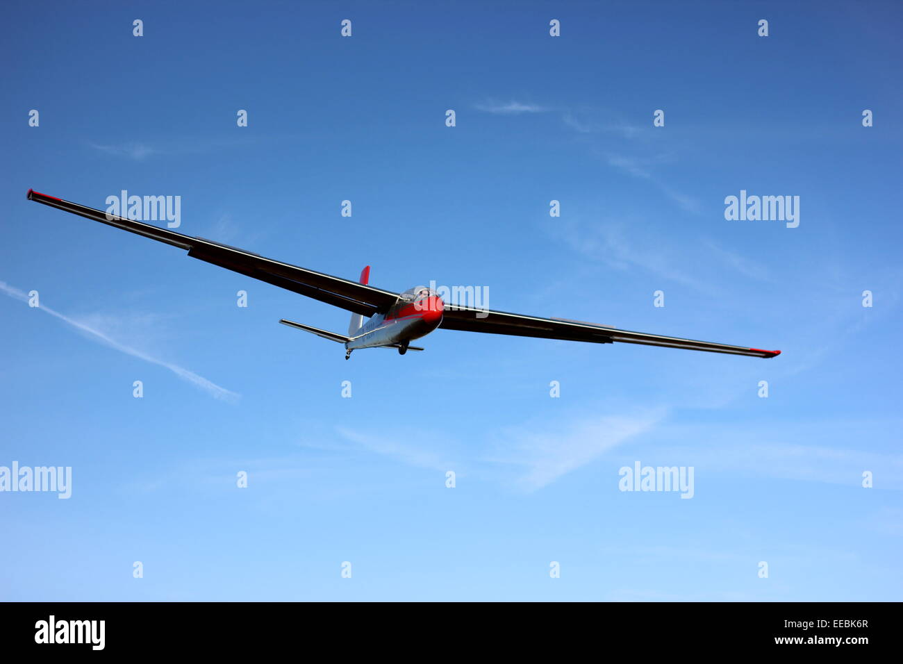 Final approach of a glider - Stock Image