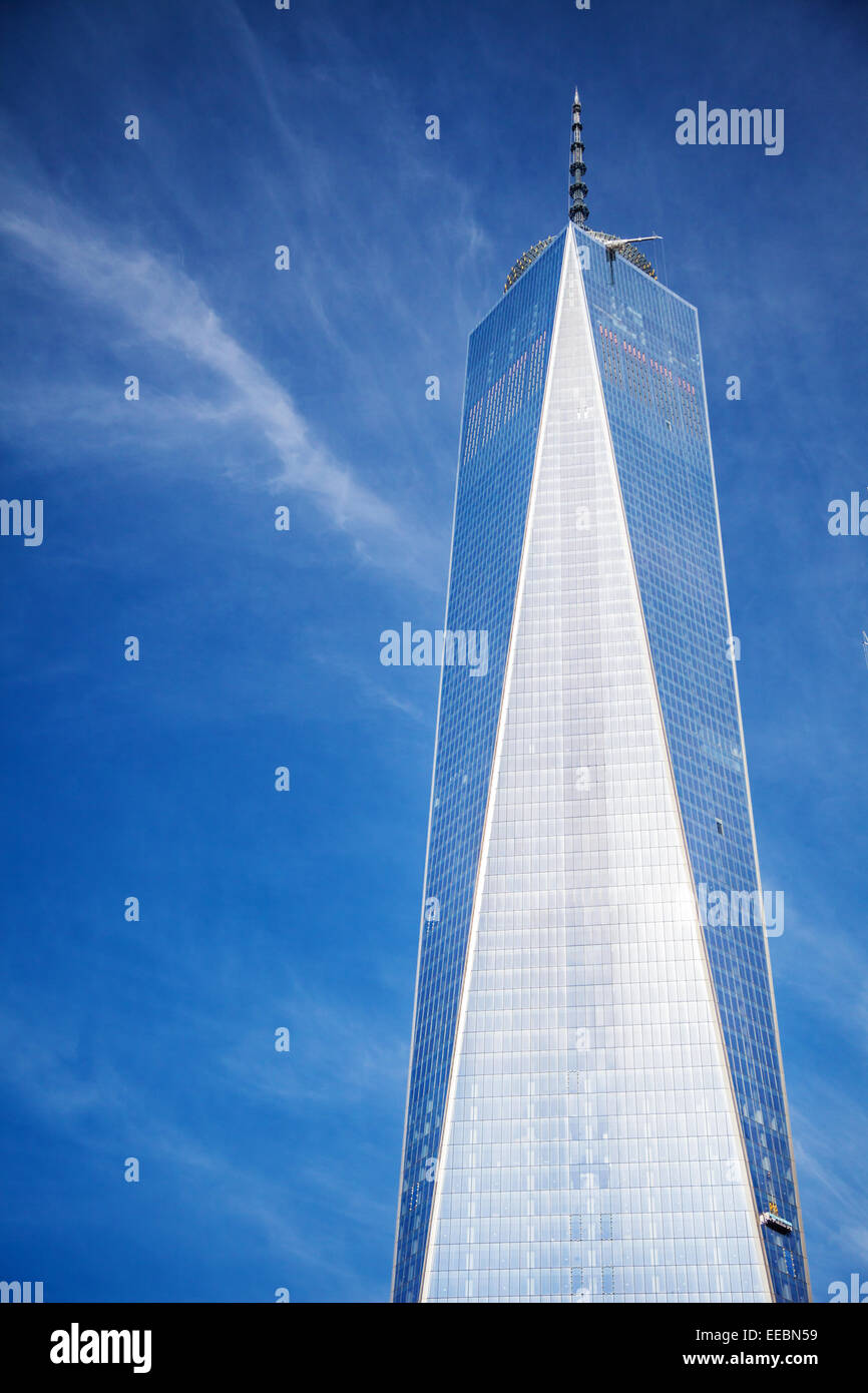One World Trade Center building in New York City - Stock Image