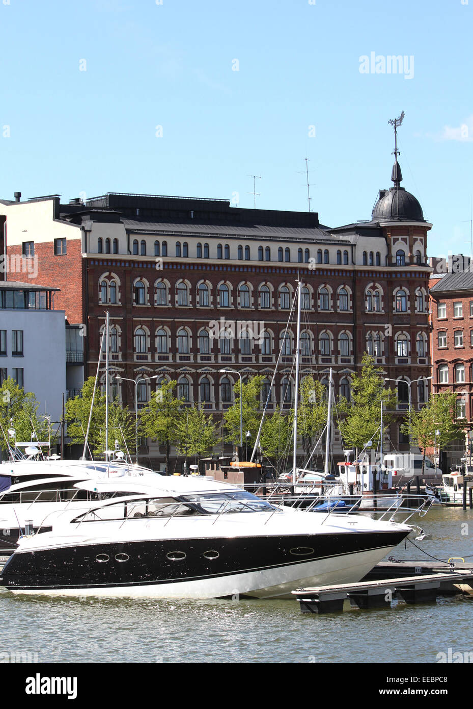 View across the North Harbour in Helsinki Stock Photo