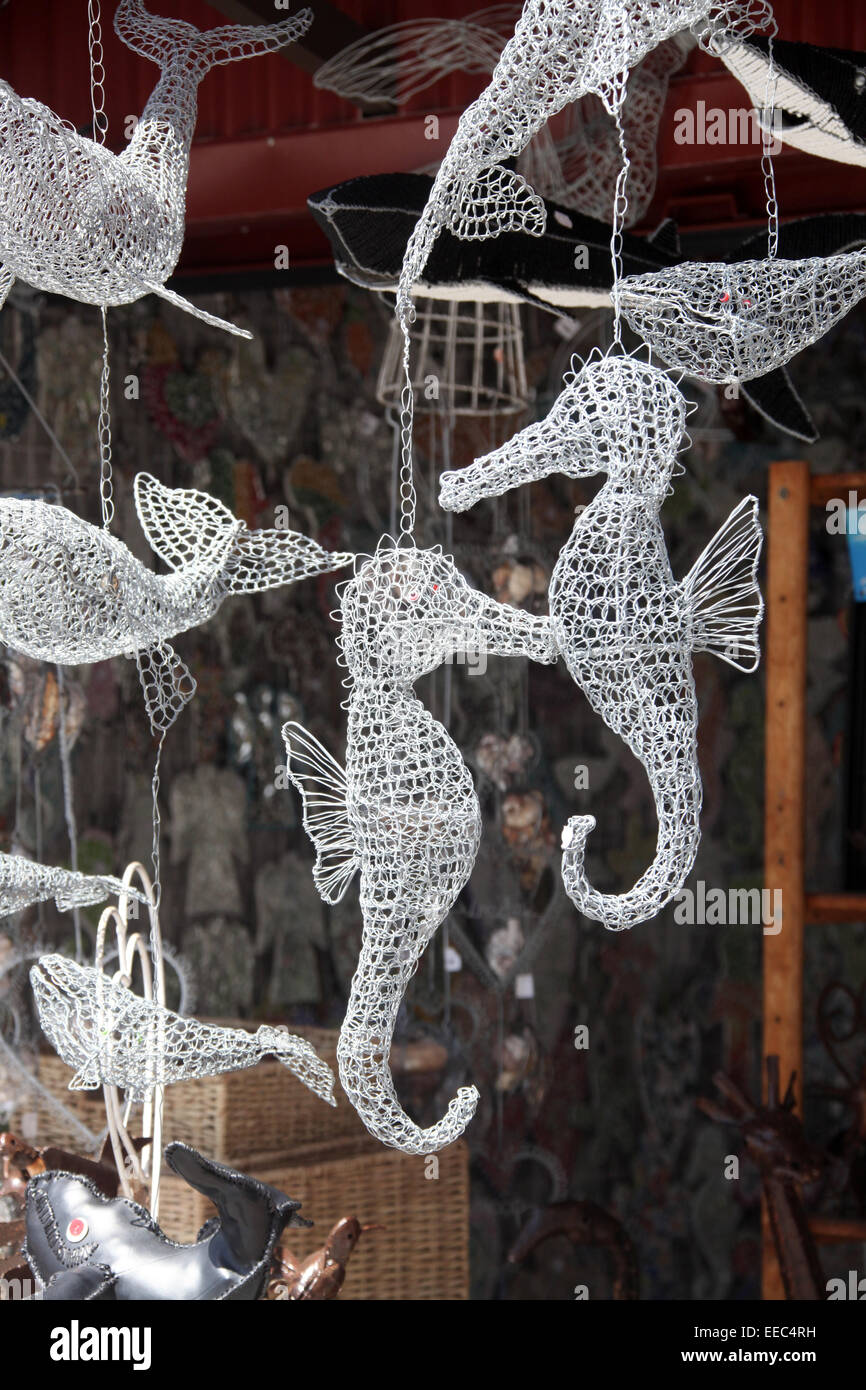 Wire Seahorses For Sale as Souvenirs in South Africa Stock Photo