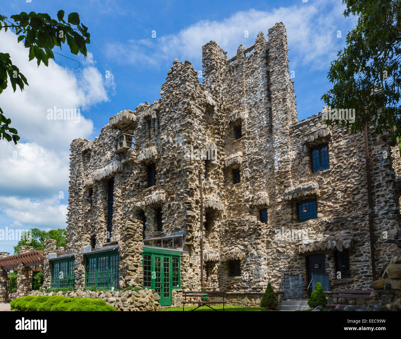 Gillette Castle, former home of the actor William Gillette, Gillette Castle State Park, East Haddam, Connecticut, - Stock Image