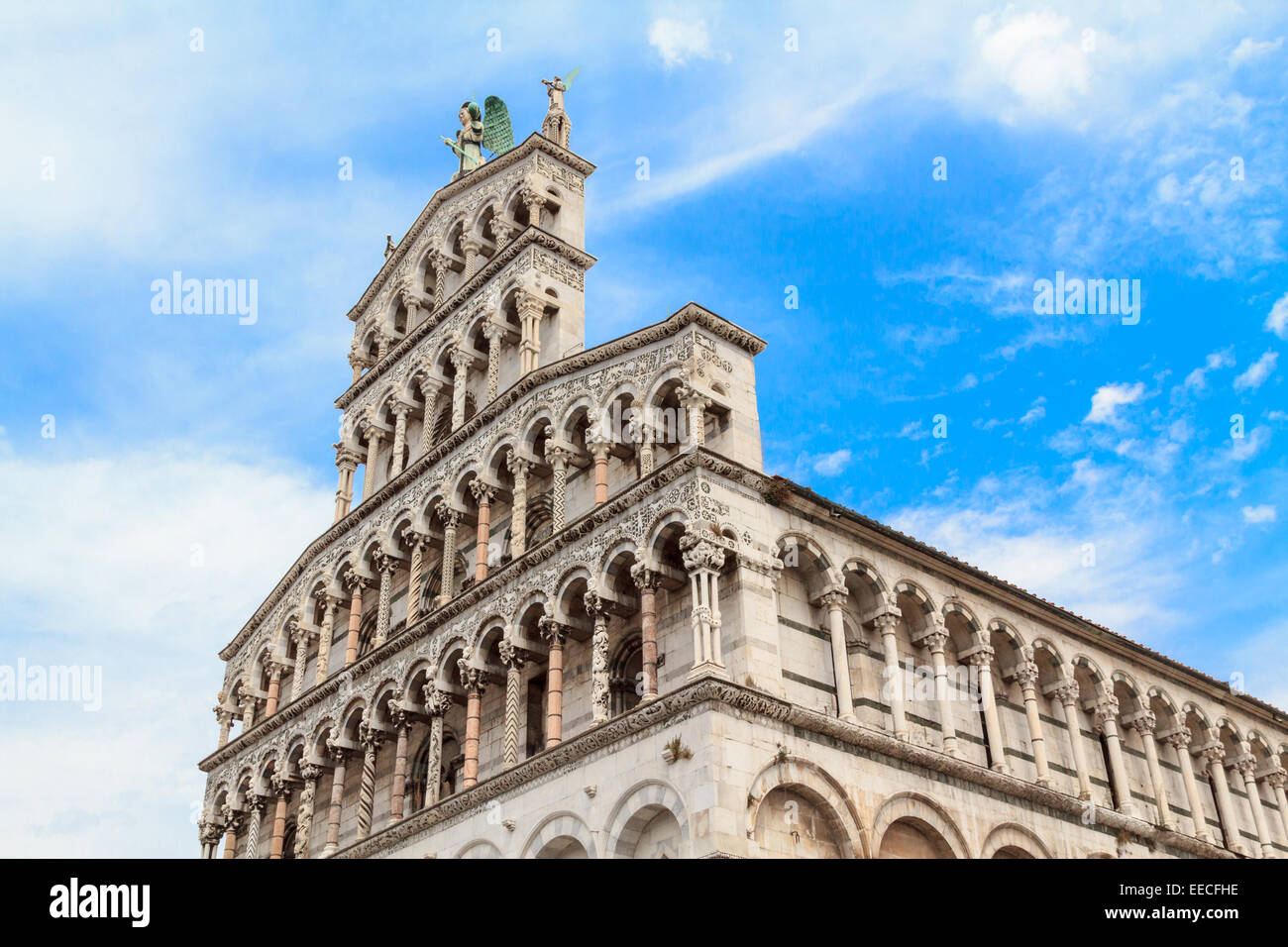 A detail of the dome of Lucca, Tuscany - Stock Image