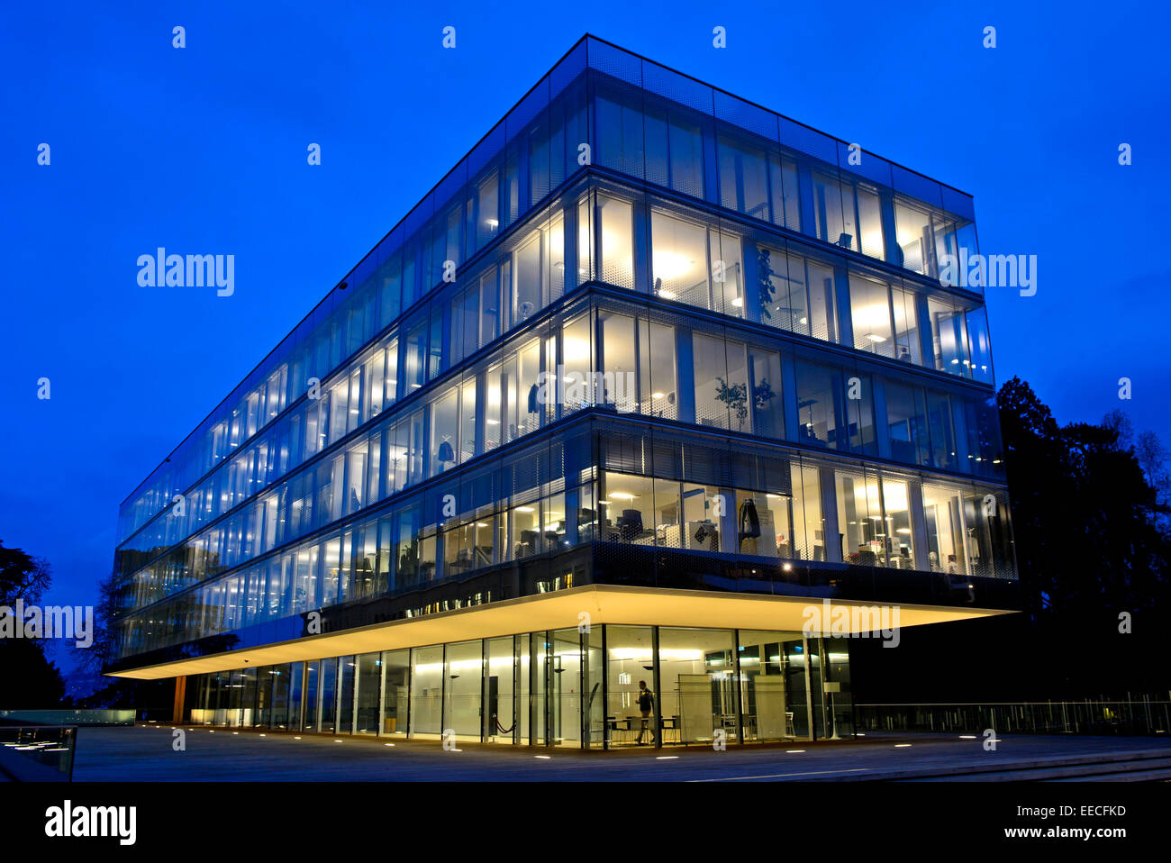 New World Trade Organisation (WTO) campus by Wittfoht Architekten, Geneva, Switzerland Stock Photo