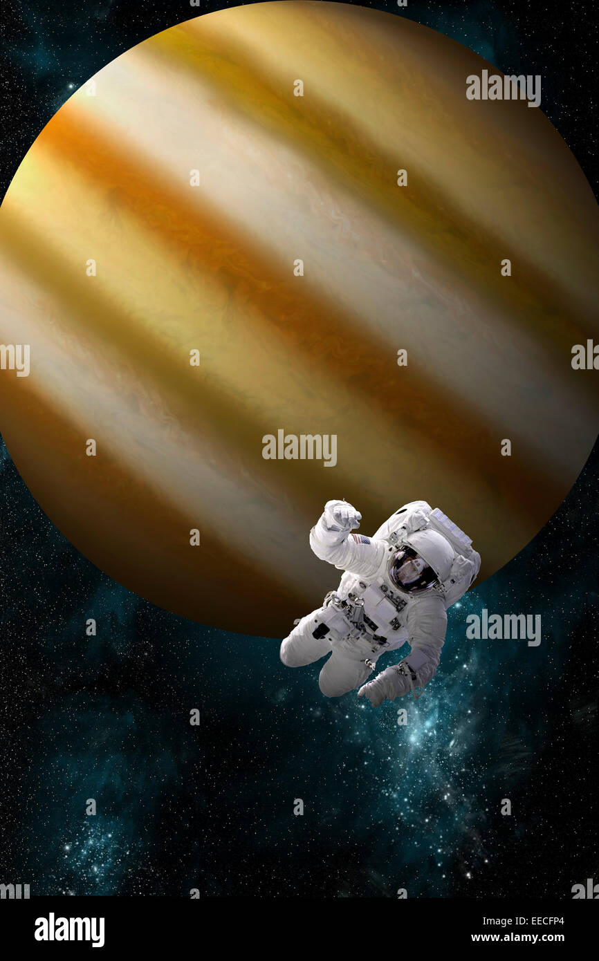 Artist S Concept Of An Astronaut Floating In Outer Space An Stock