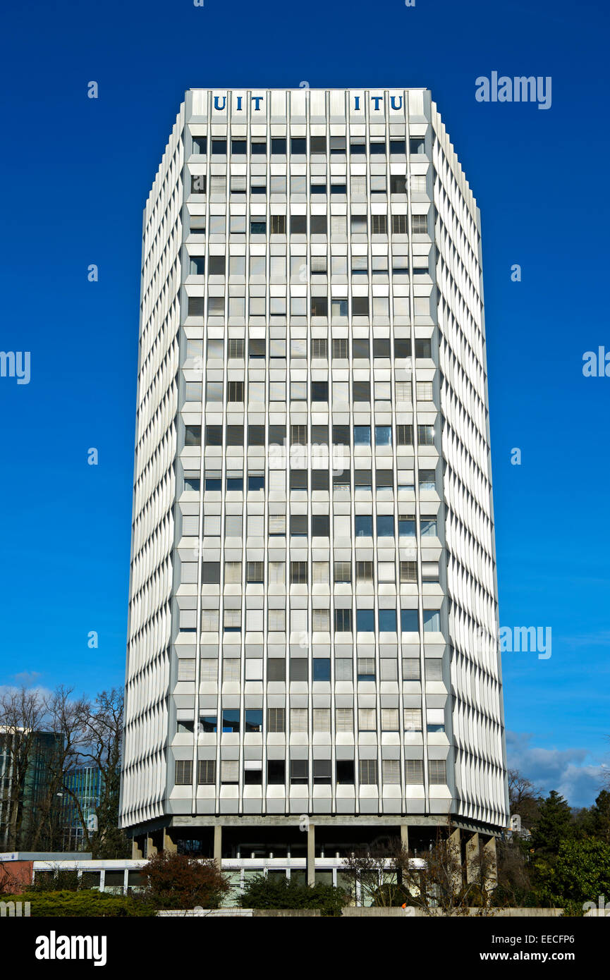 Headquarters of the International Telecommunication Union (ITU), Geneva, Switzerland - Stock Image