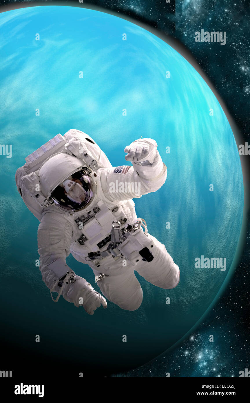 Artist S Concept Of An Astronaut Floating In Outer Space A Water