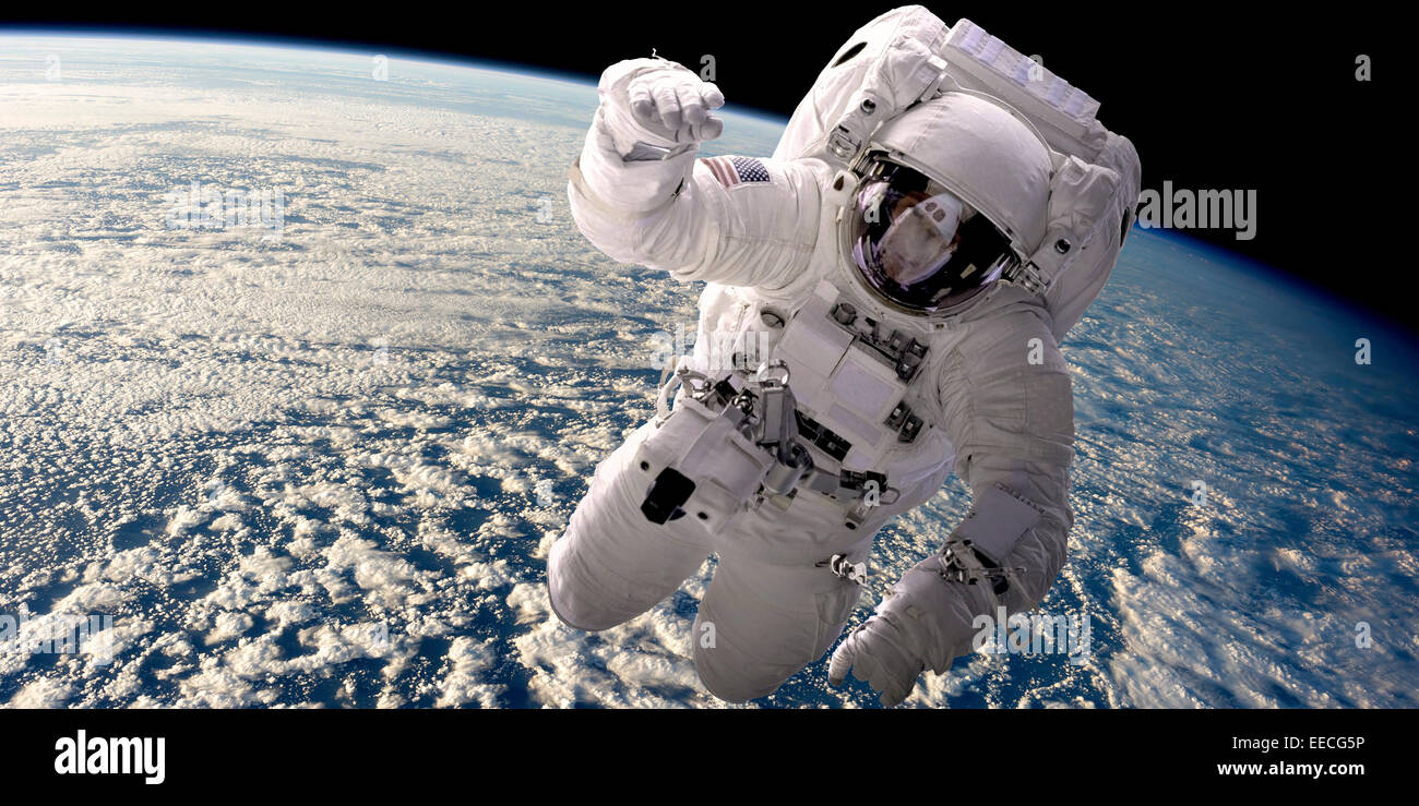 an astronaut floating in space - photo #15