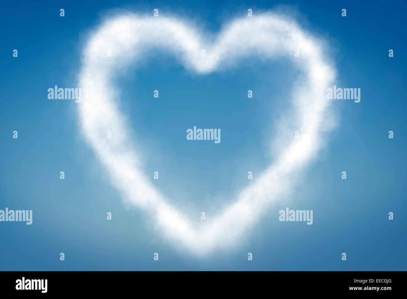 heart shape cloud in sky stock photos & heart shape cloud in sky