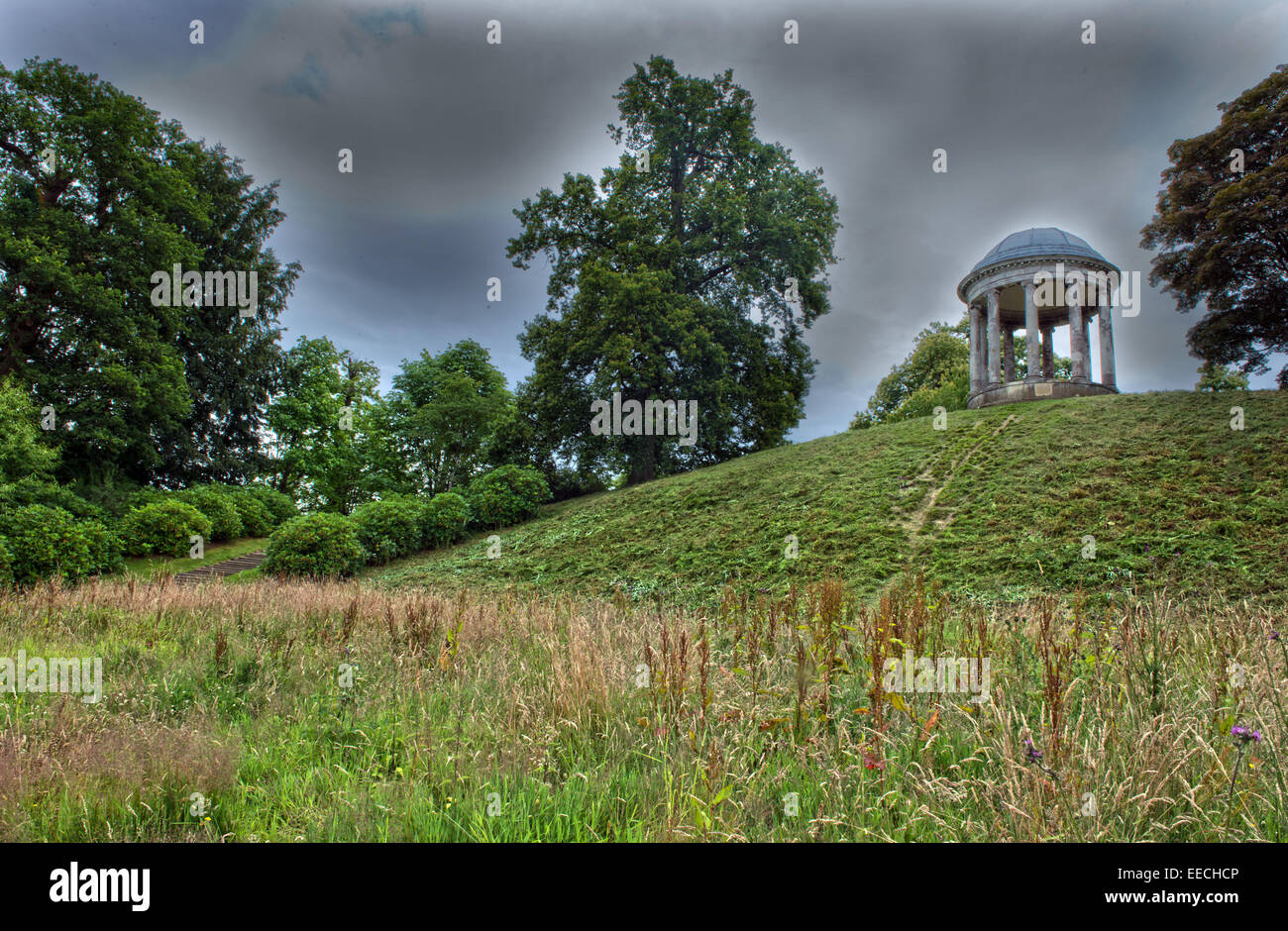 The Ionic Garden Rotunda  in  Petworth Park (National Trust) Petworth, West Sussex, England, Uk - Stock Image