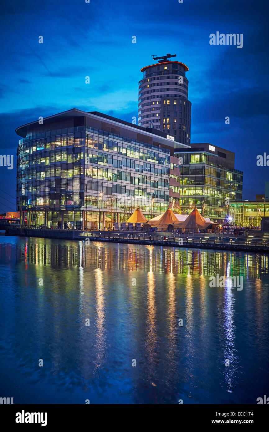Media City UK in Salford Quays, home of the BBC and ITV, Granada. Stock Photo