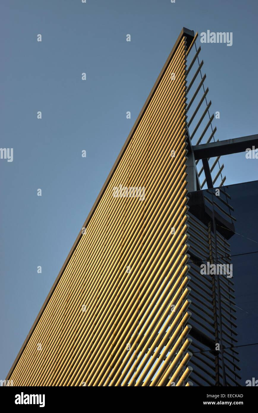 modern architecture London  building panels - Stock Image