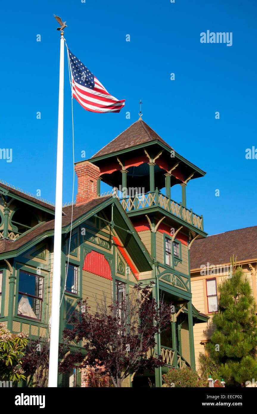 Sherman-Gilbert House, Heritage Park, San Diego, California - Stock Image