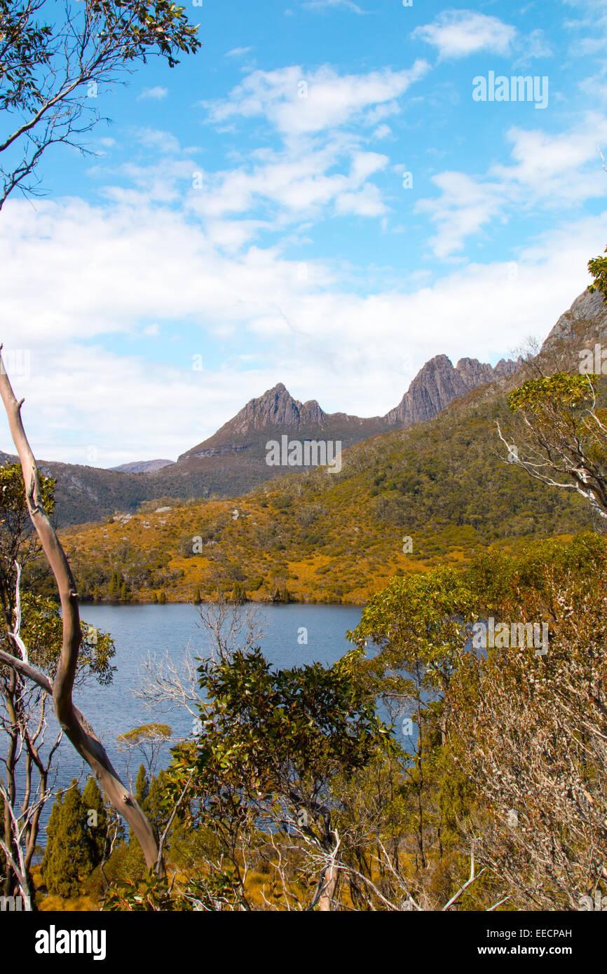 lake lilla and cradle mountain national park,tasmania,australia - Stock Image