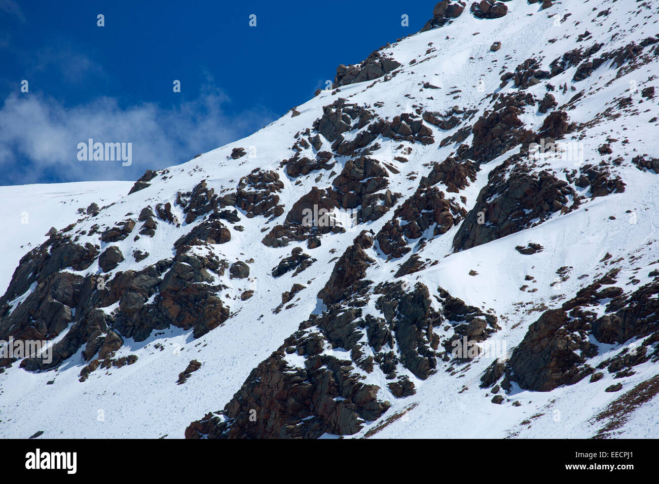 Sugarloaf Peak ridgeline, Arapaho National Forest, Guanella Pass Road Scenic Byway, Colorado - Stock Image