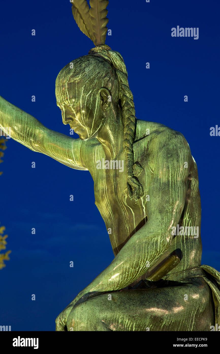 Closing Era Statue, Colorado State Capitol,  Denver, Colorado - Stock Image