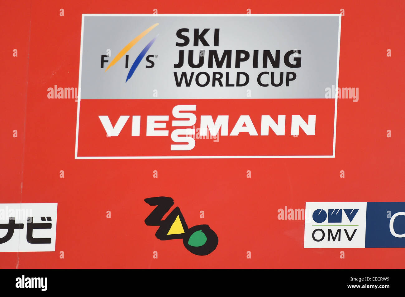 Zao Jumping Hills, Yamagata, Japan. 16th Jan, 2015. Logo/General view, JANUARY 16, 2015 - Ski Jumping : FIS Ski - Stock Image